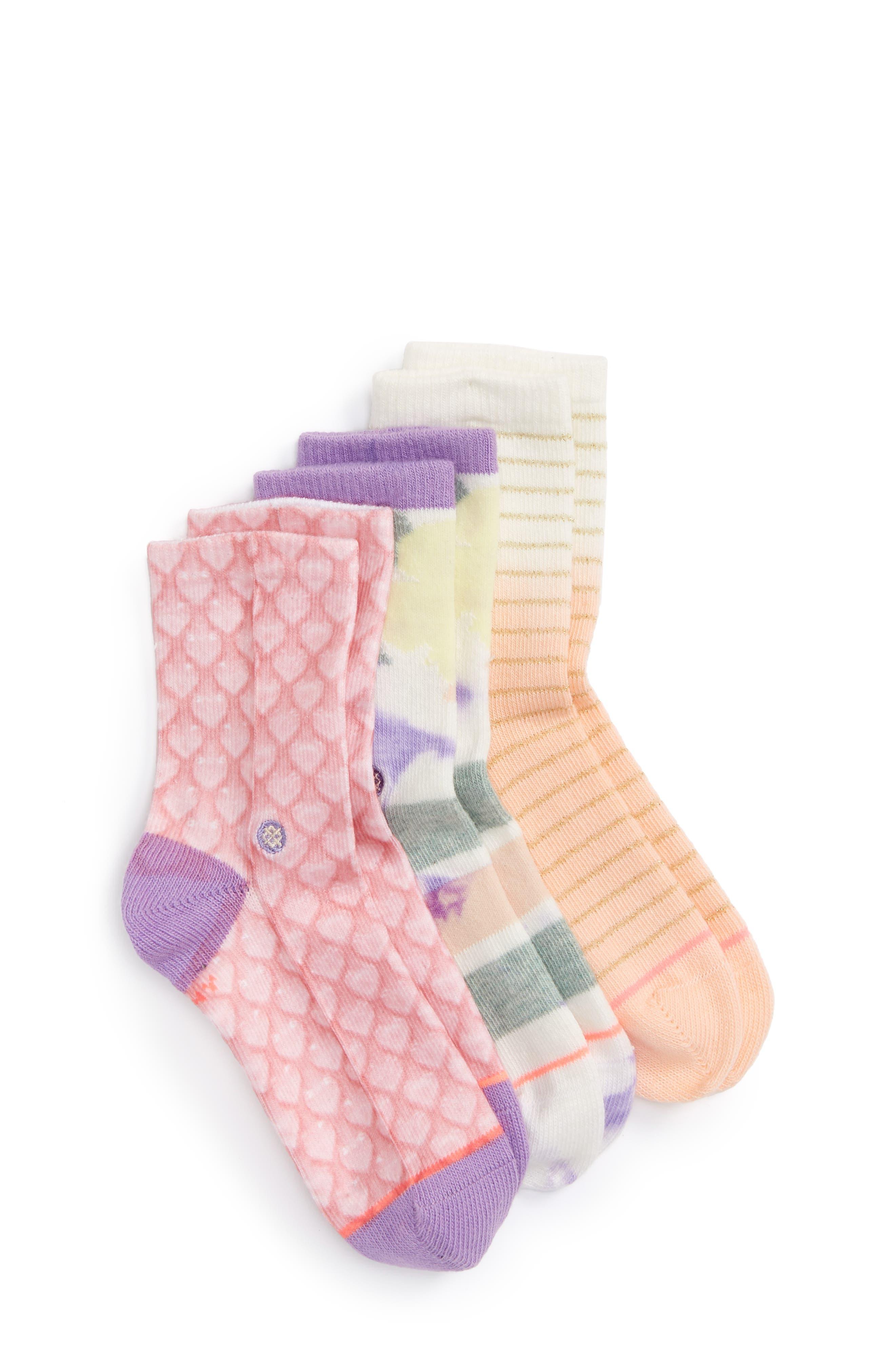 Pop Assorted 3-Pack Socks,                         Main,                         color, Purple Multi