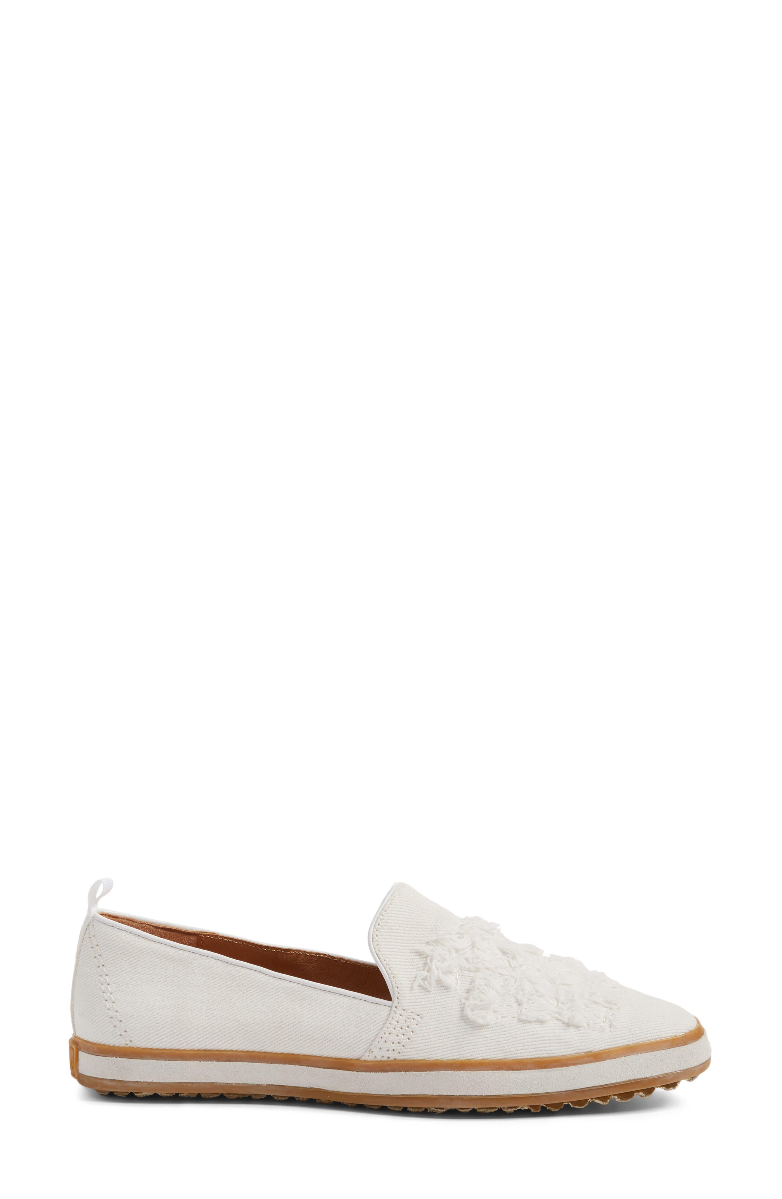 Sutton Loafer Flat,                             Alternate thumbnail 3, color,                             White