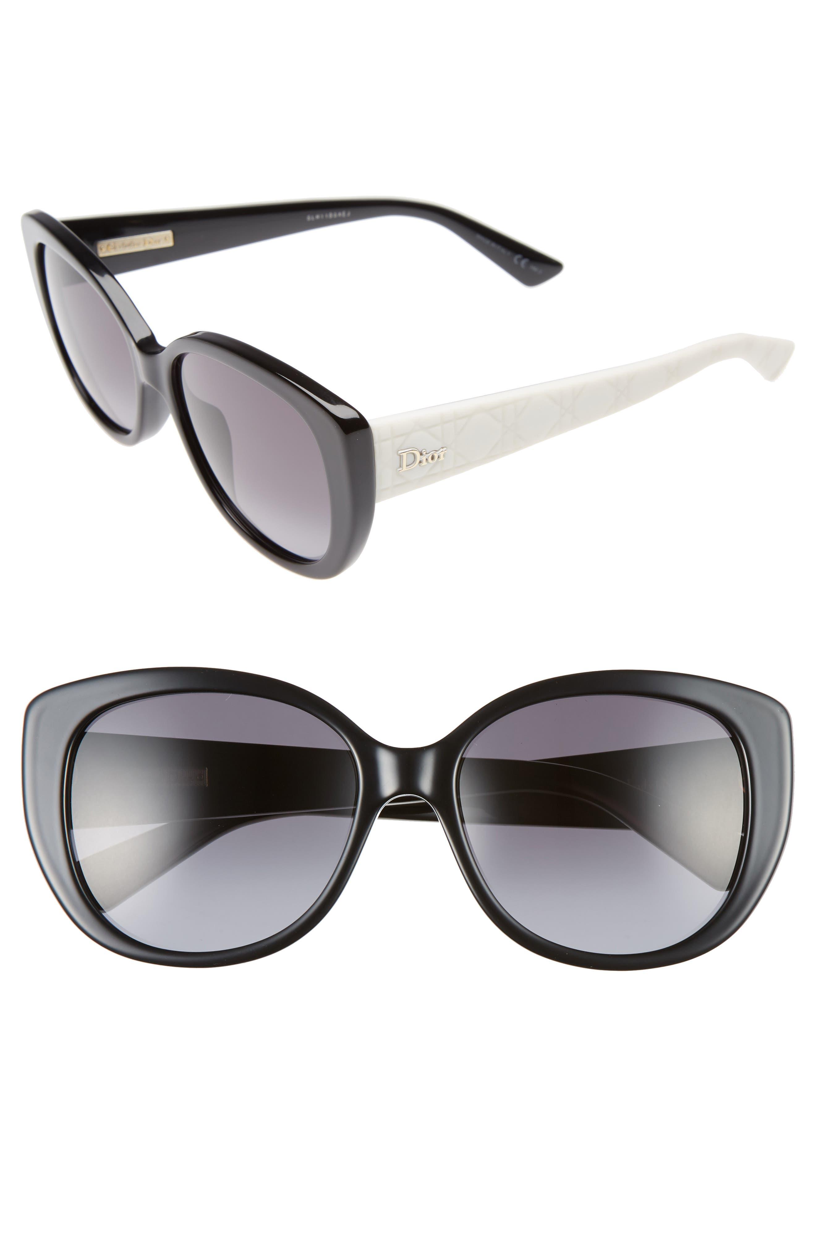 Dior Lady 55mm Cat Eye Sunglasses