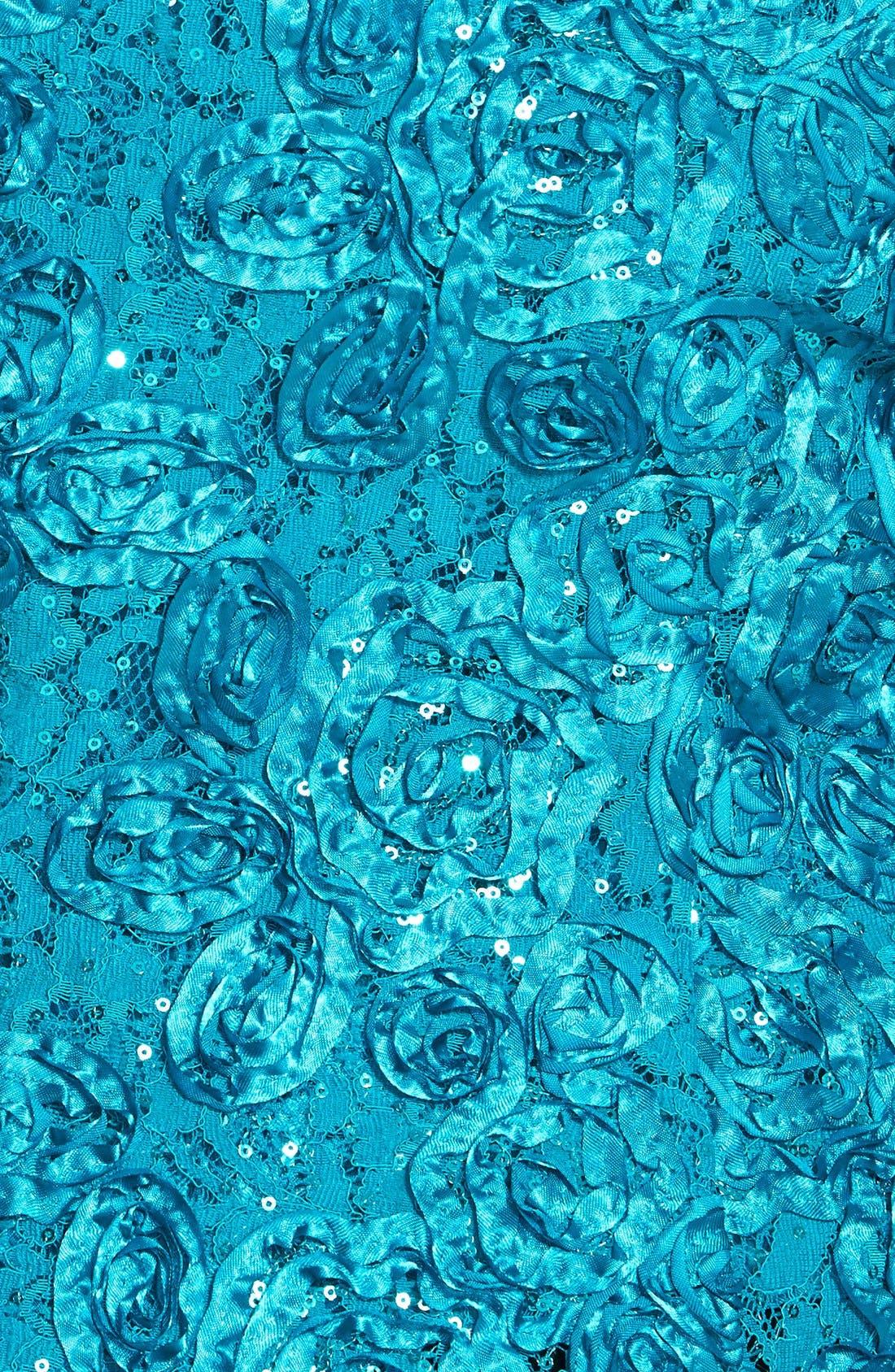 Alternate Image 4  - Alex Evenings Rosette Twinset (Plus Size)