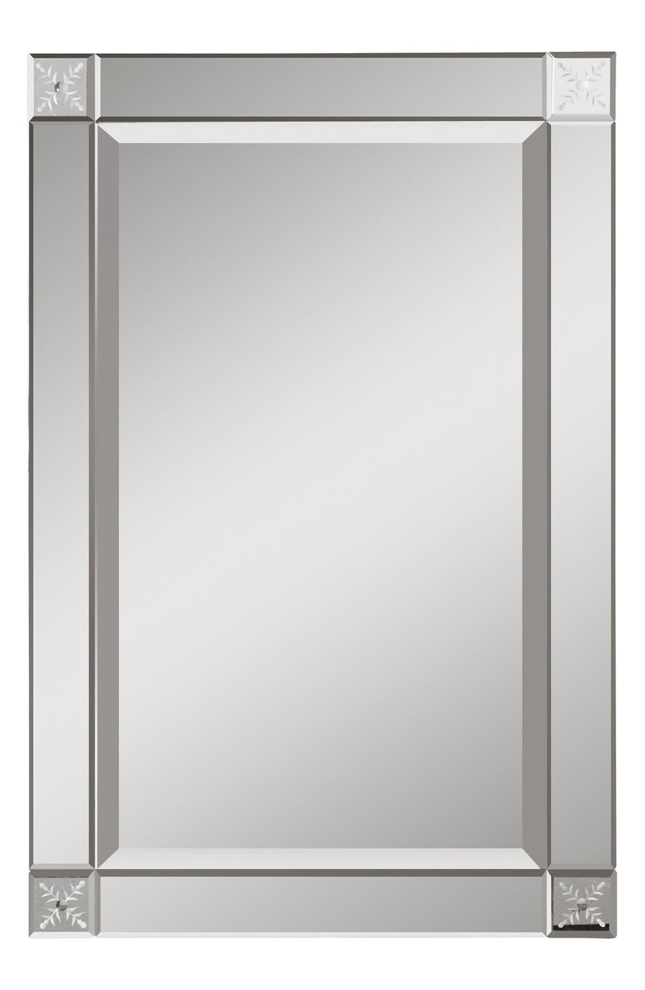 Emberlynn Frameless Wall Mirror,                         Main,                         color, Metallic Silver