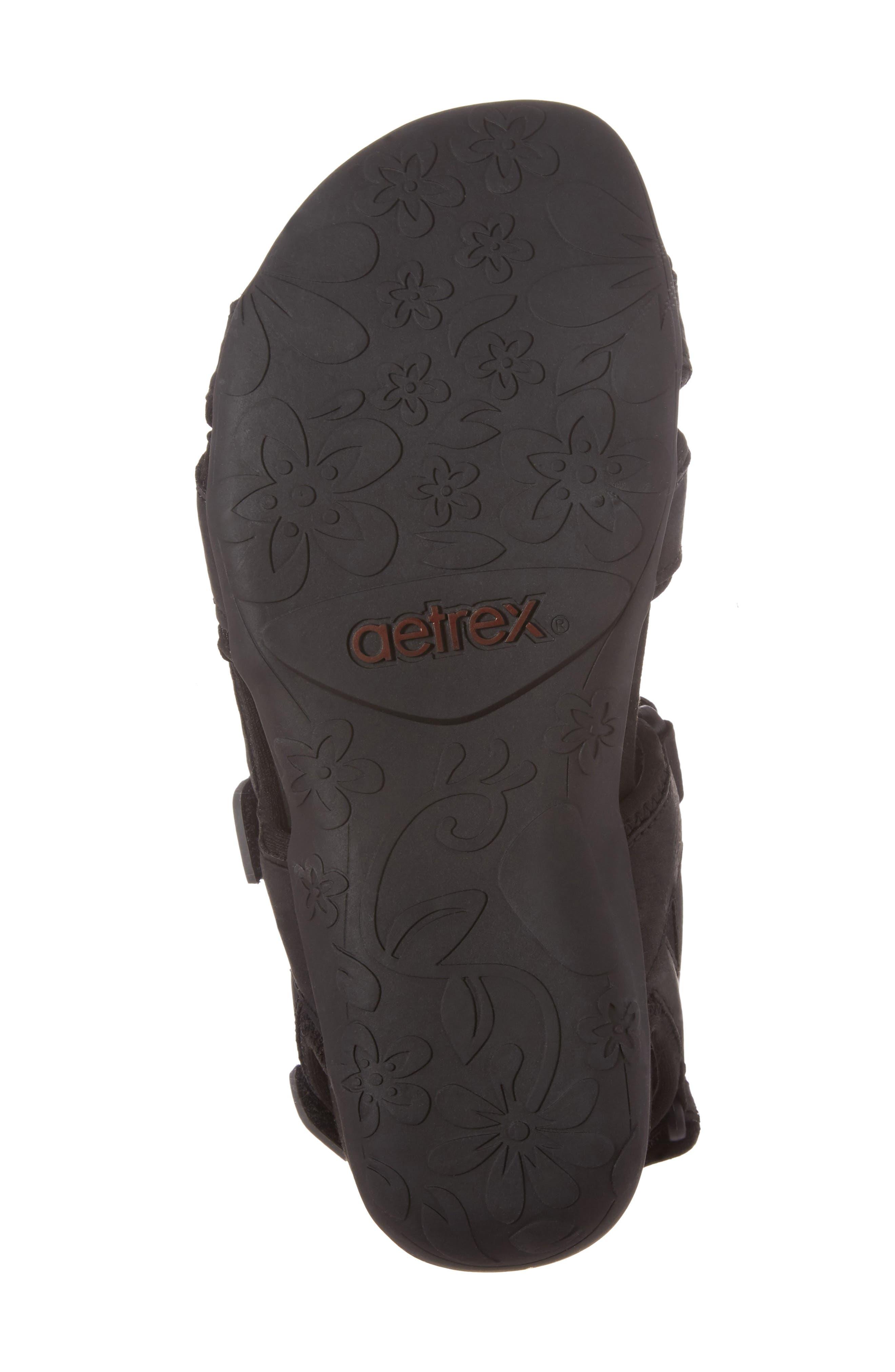 Bree Sport Sandal,                             Alternate thumbnail 6, color,                             Black Fabric