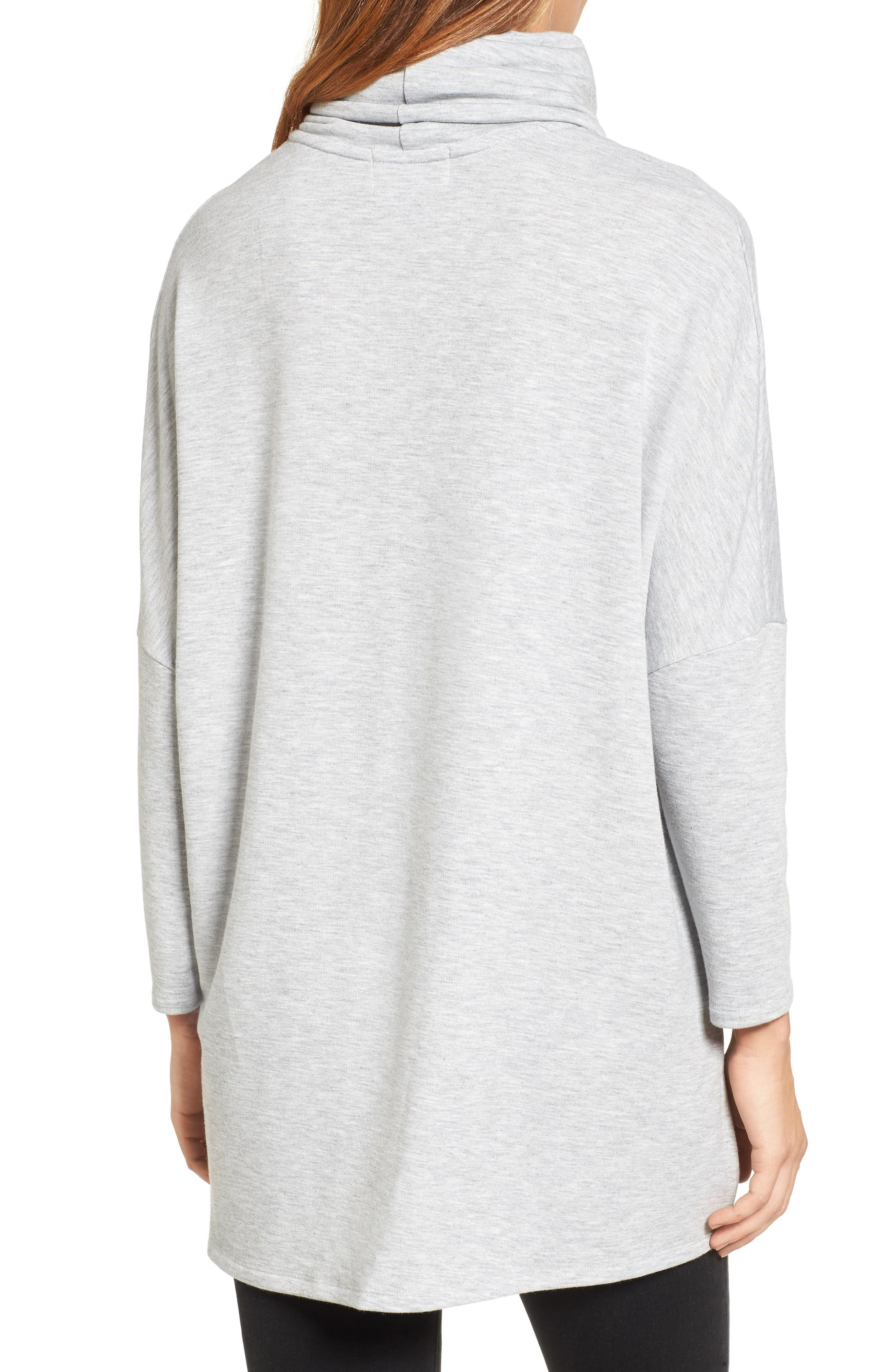 High/Low Tunic,                             Alternate thumbnail 2, color,                             Heather Grey