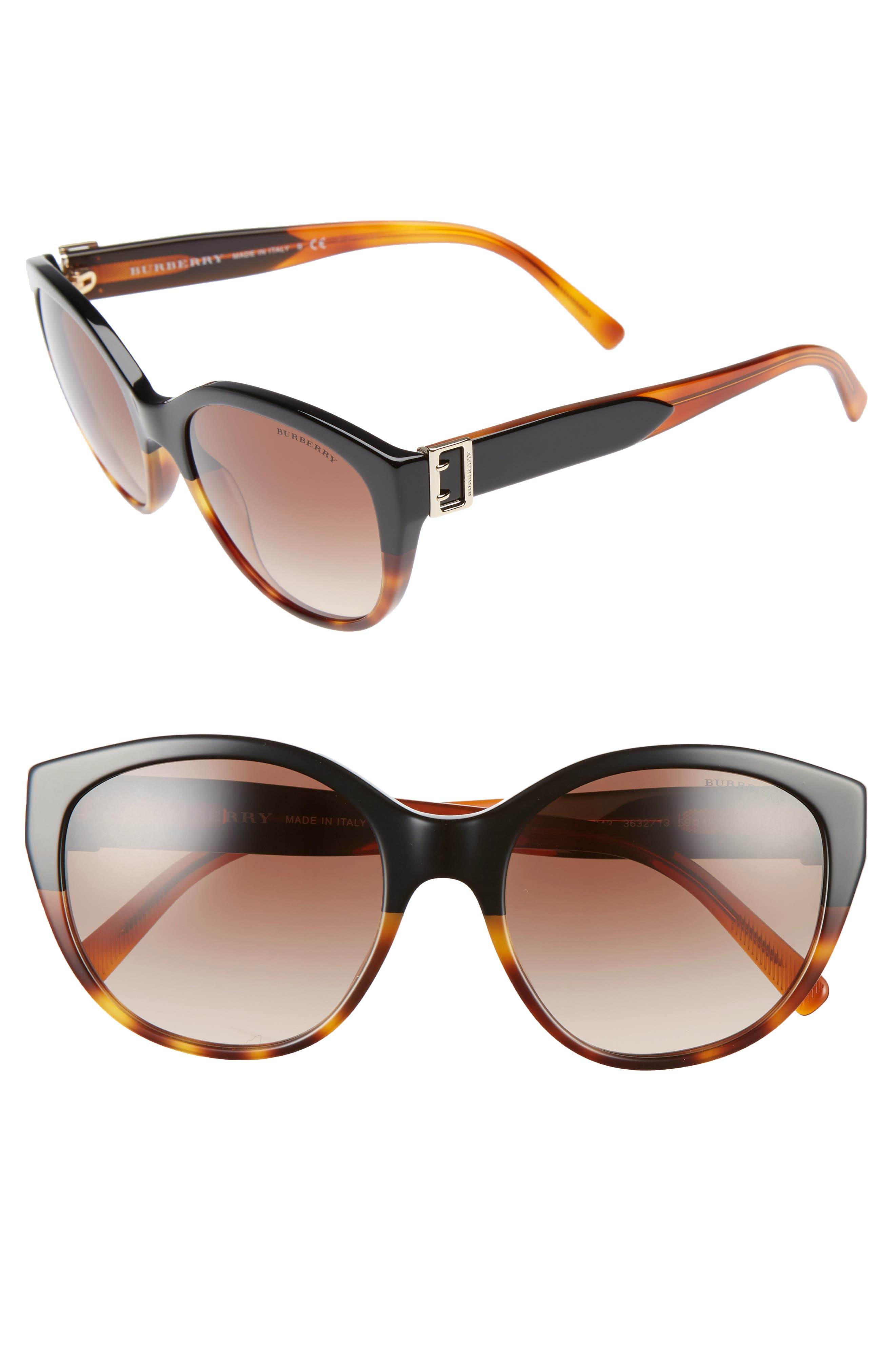 Burberry 55mm Gradient Cat Eye Sunglasses