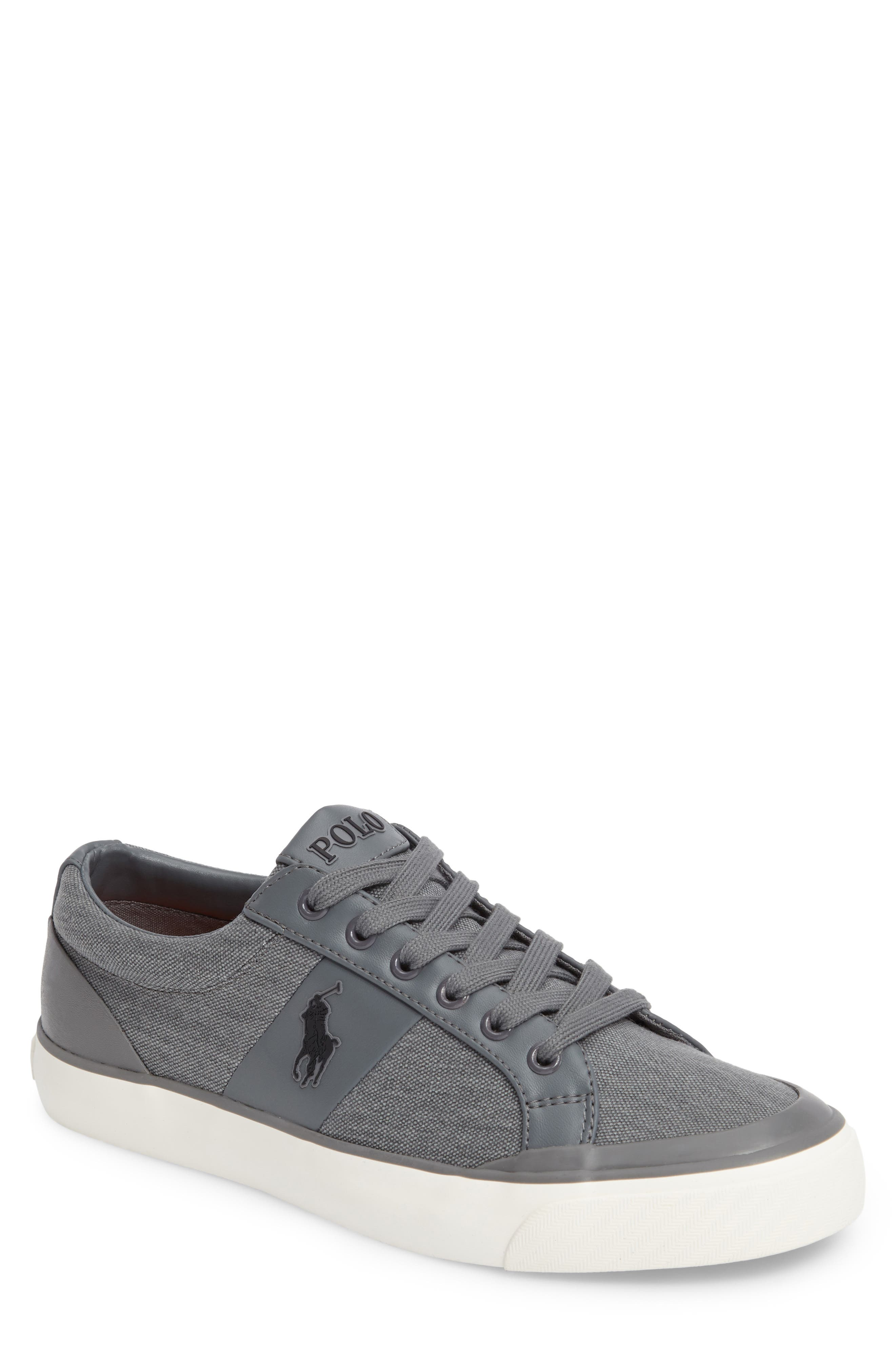 Polo Ralph Lauren Ian Sneaker,                             Main thumbnail 1, color,                             Slate