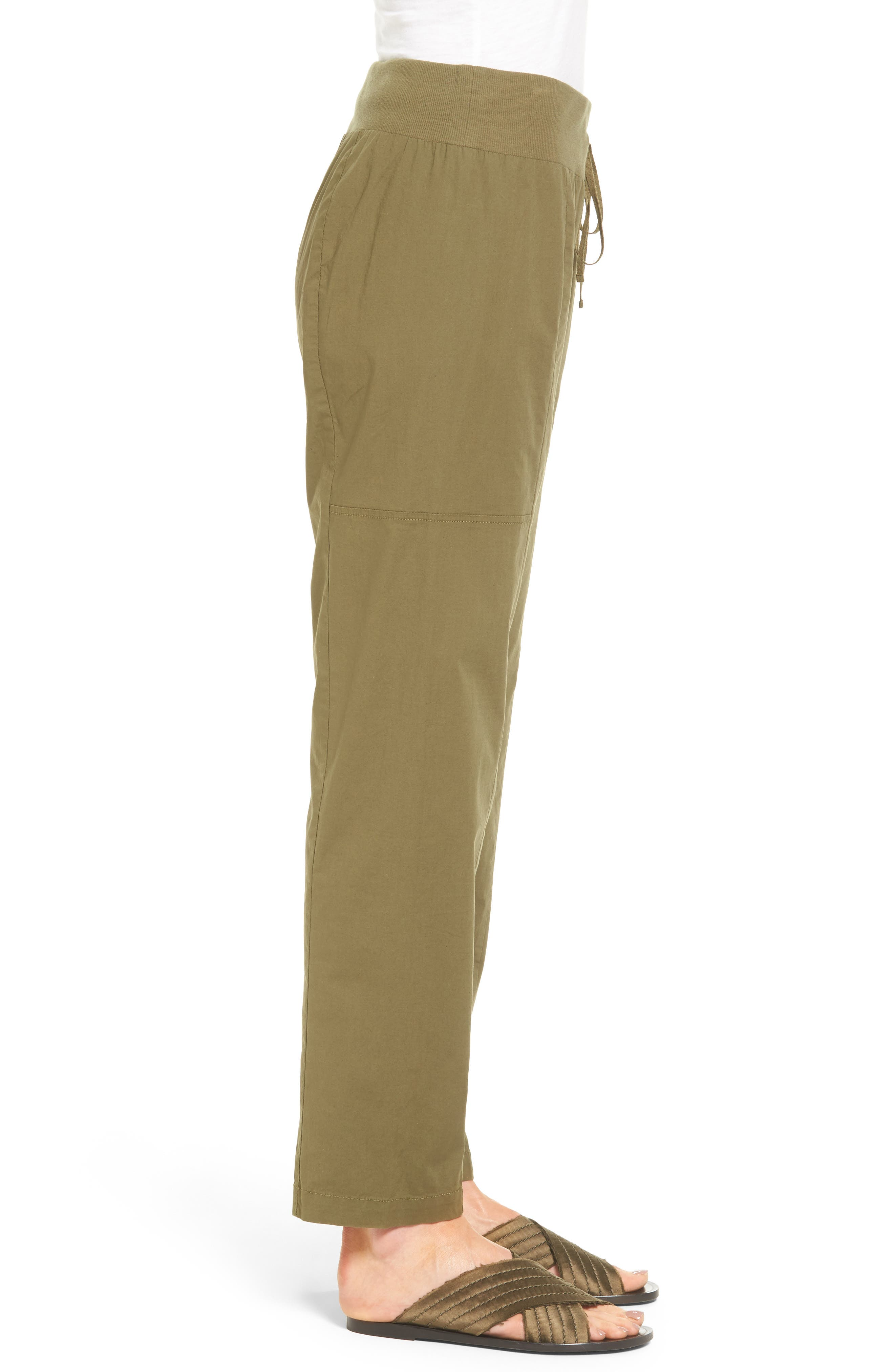 Alternate Image 4  - Eileen Fisher Drawstring Ankle Pants (Regular & Petite)