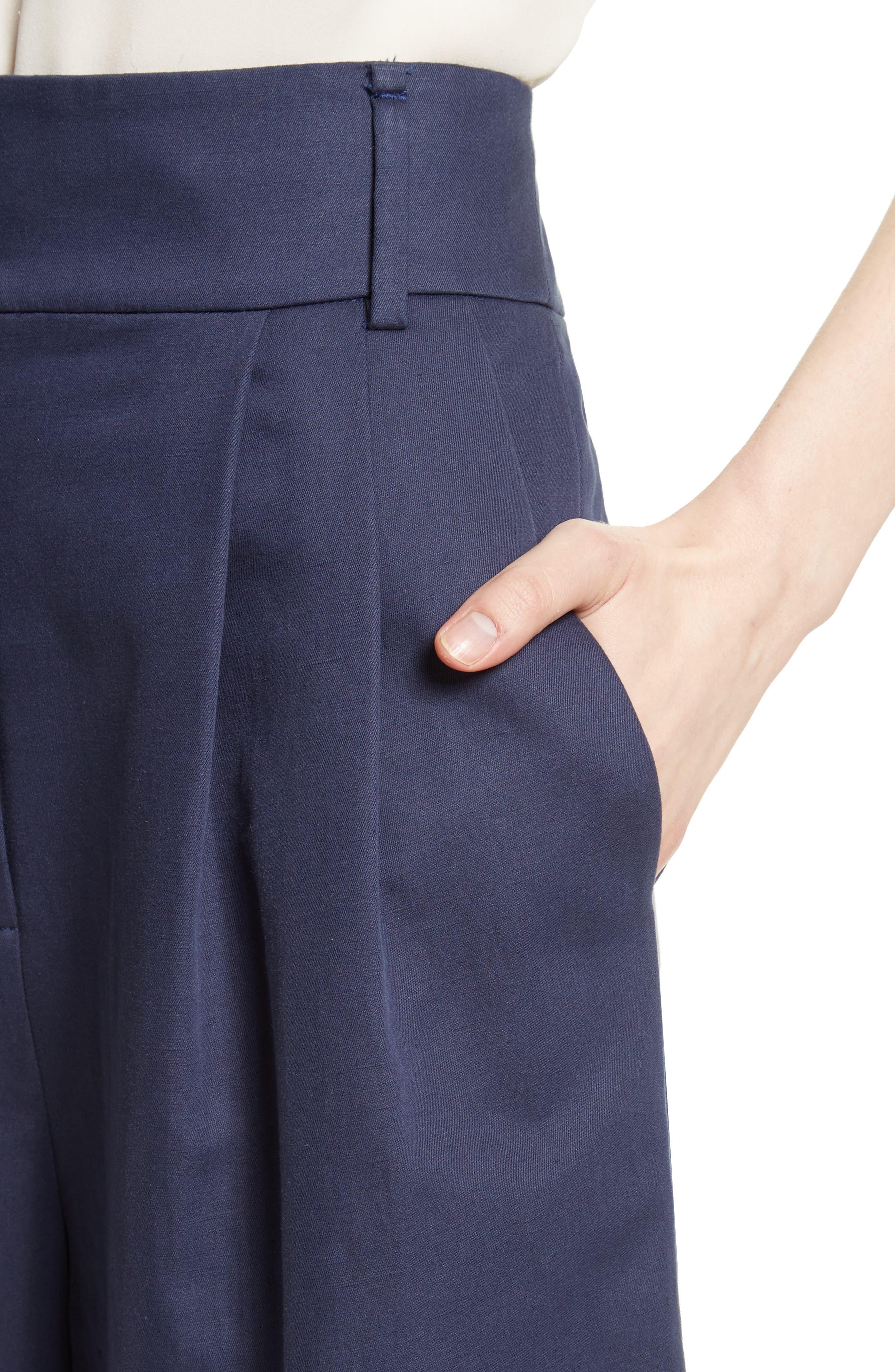 Chassis Plain Weave Crop Pants,                             Alternate thumbnail 5, color,                             Navy
