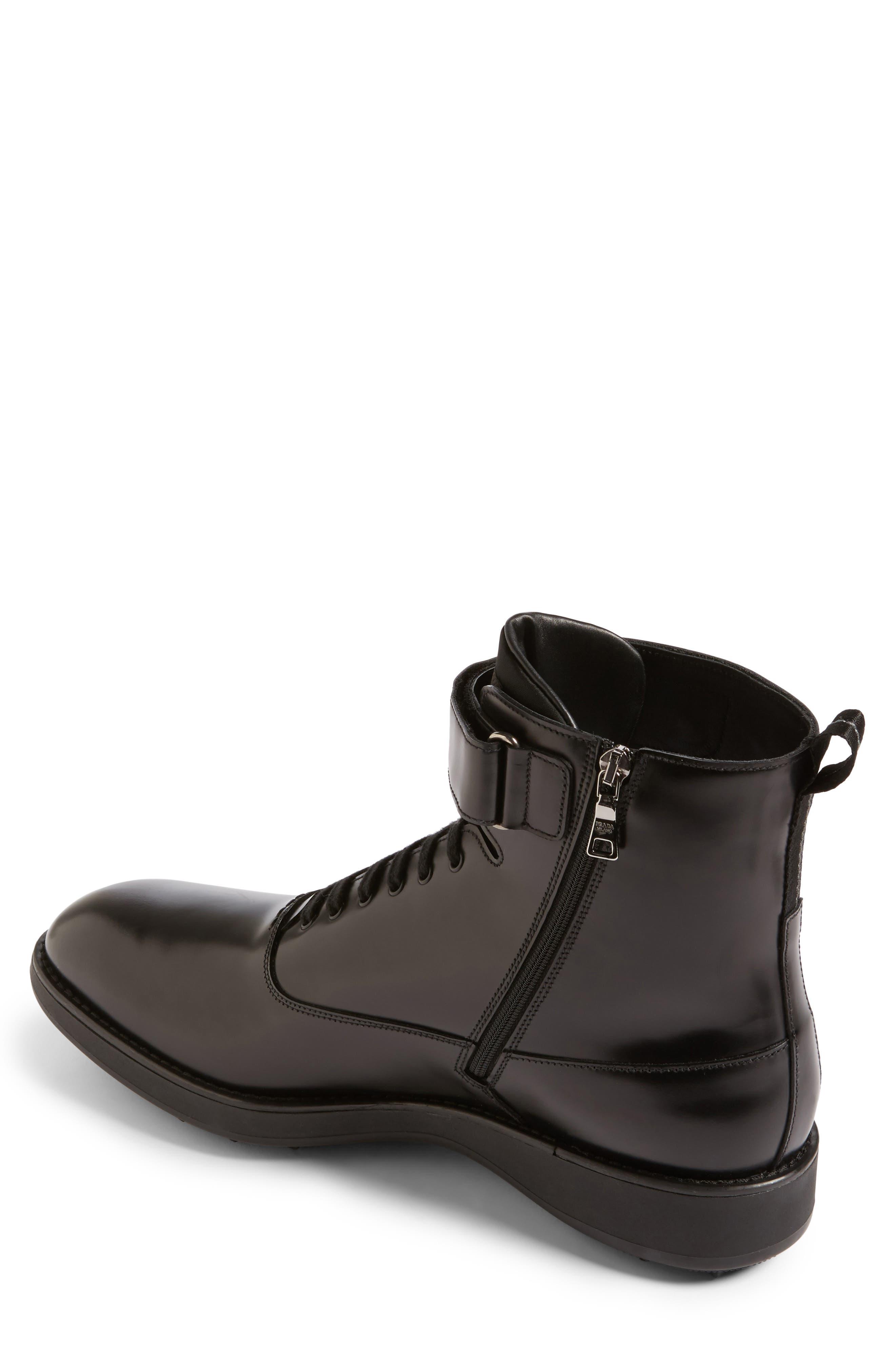 Plain Toe Boot,                             Alternate thumbnail 2, color,                             Nero