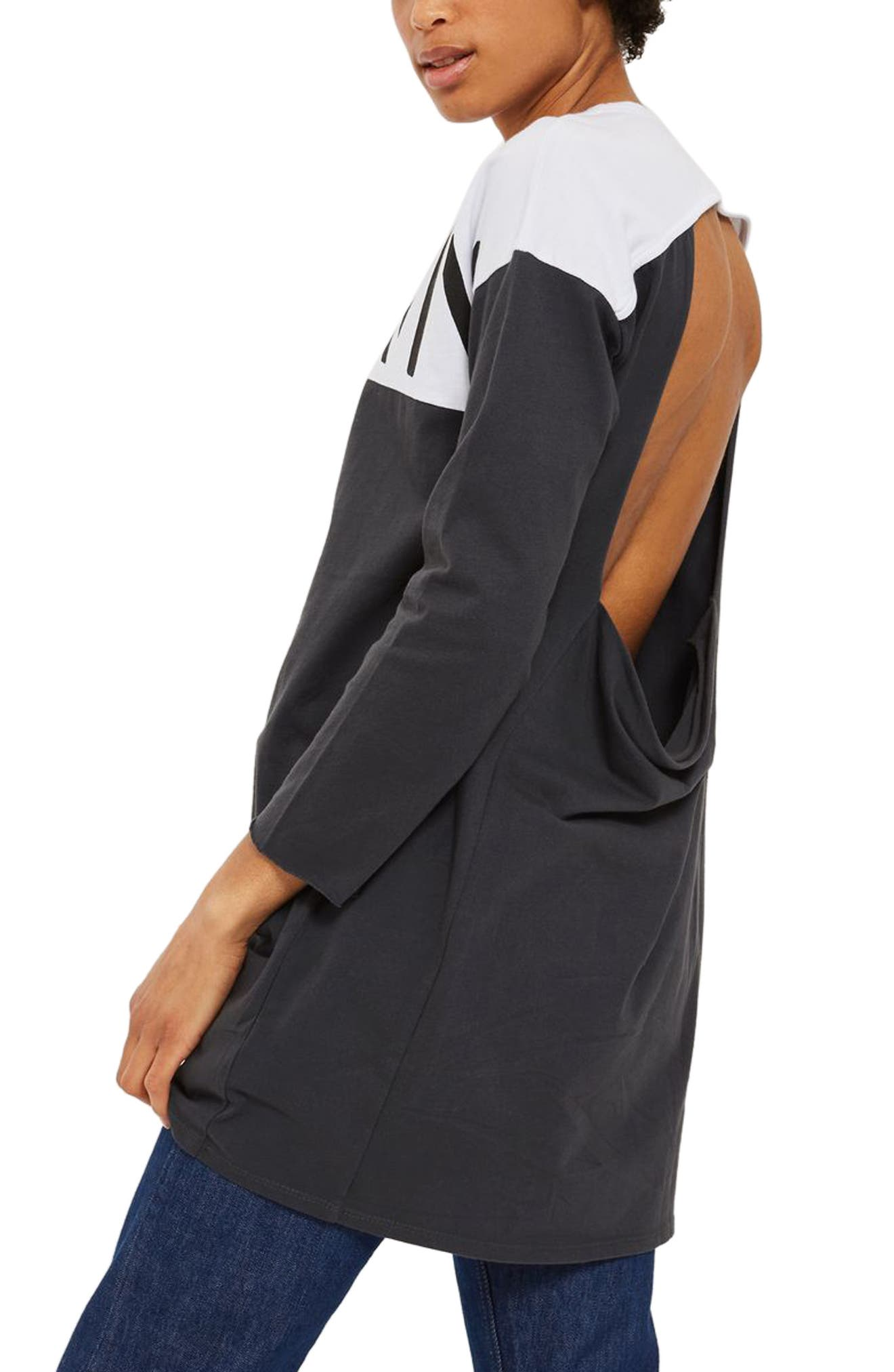 Alternate Image 2  - Topshop Unknown Backless Tunic