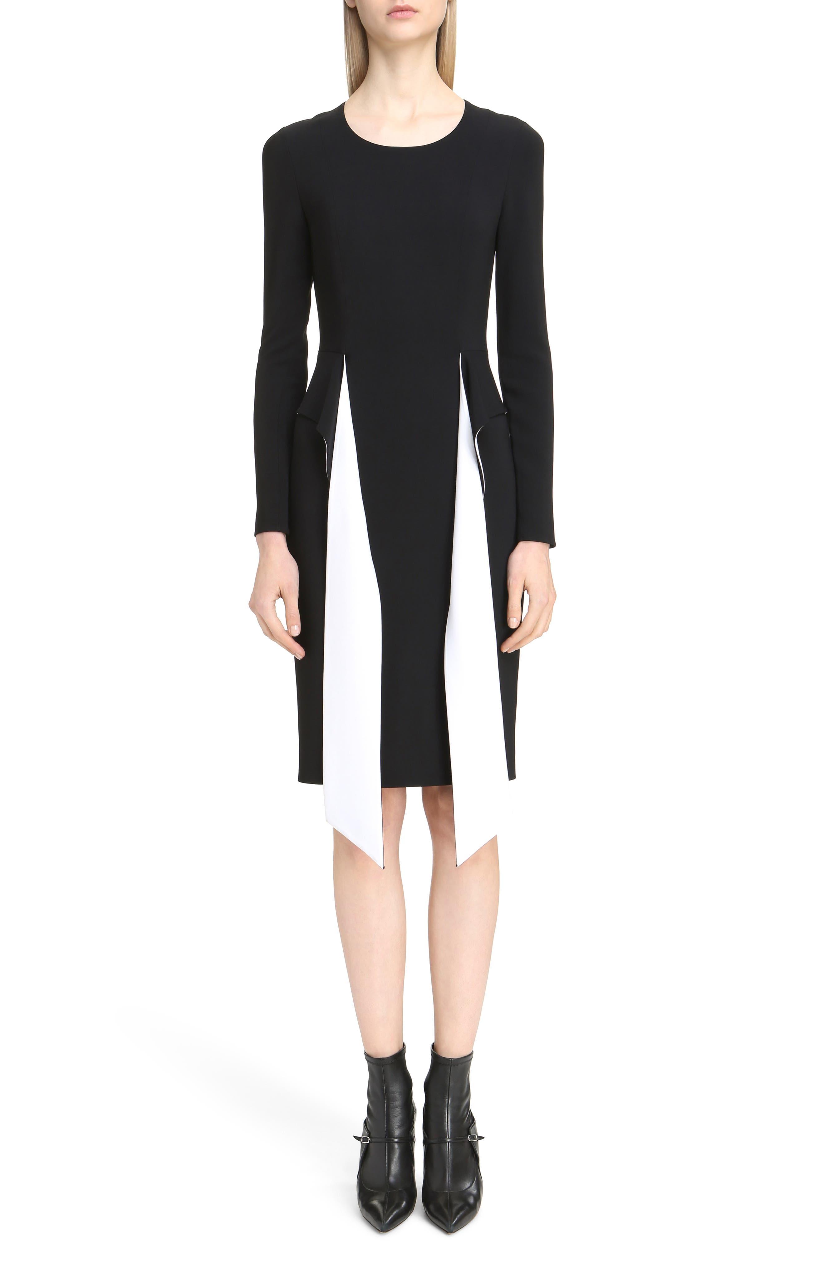 Givenchy Bicolor Cutaway Stretch Cady Dress