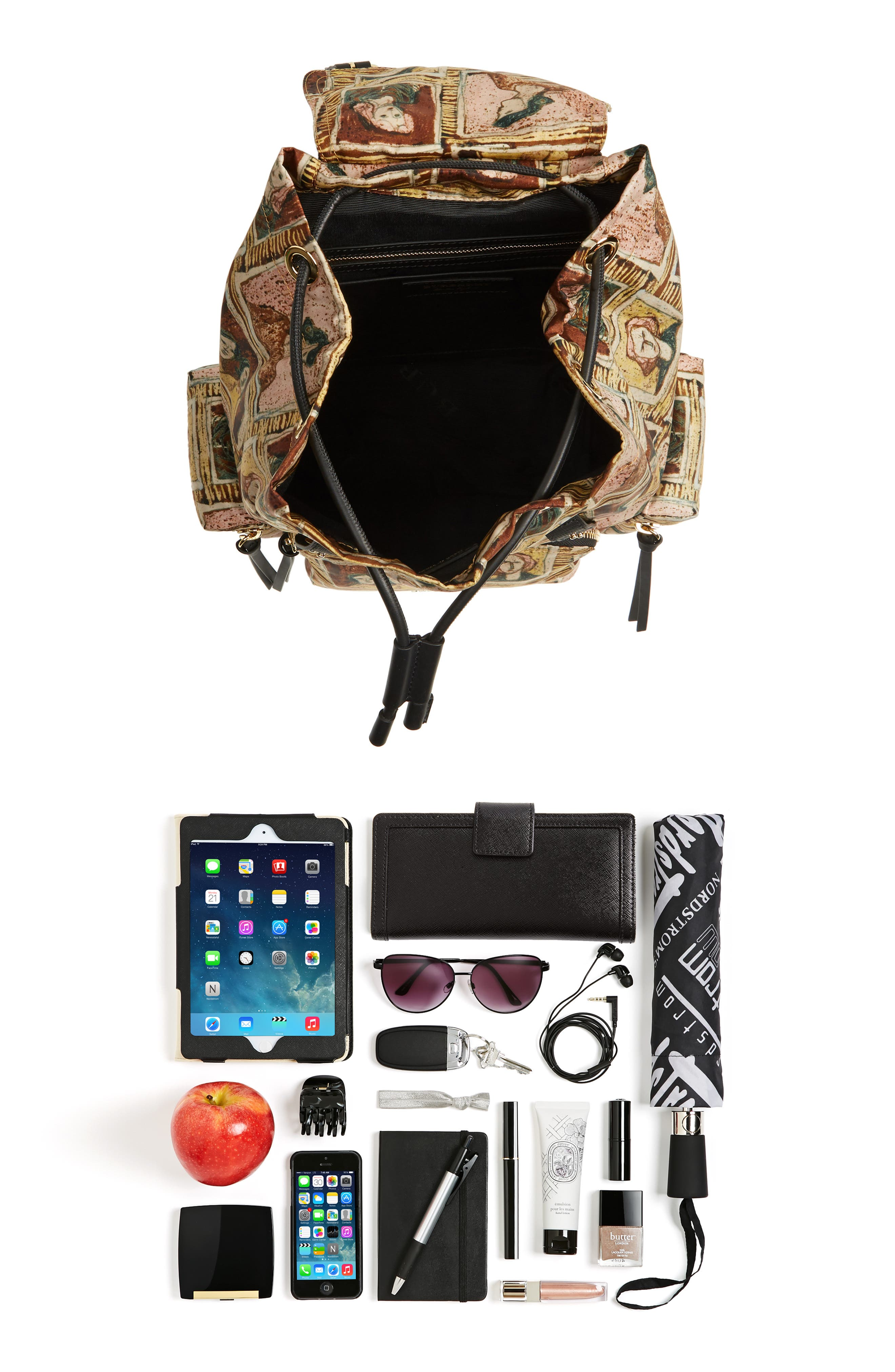 Medium Henrey Backpack,                             Alternate thumbnail 7, color,                             Umber Brown Multi