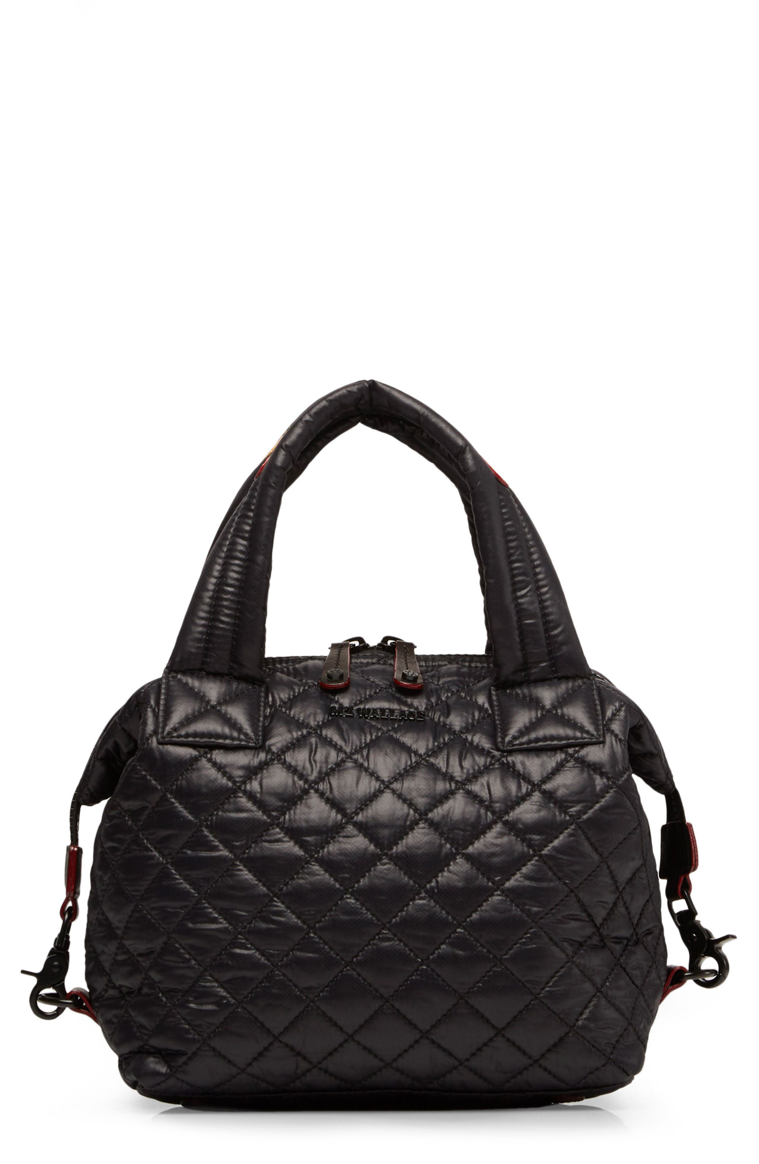 MZ WALLACE Small Sutton Quilted Oxford Nylon Crossbody Bag