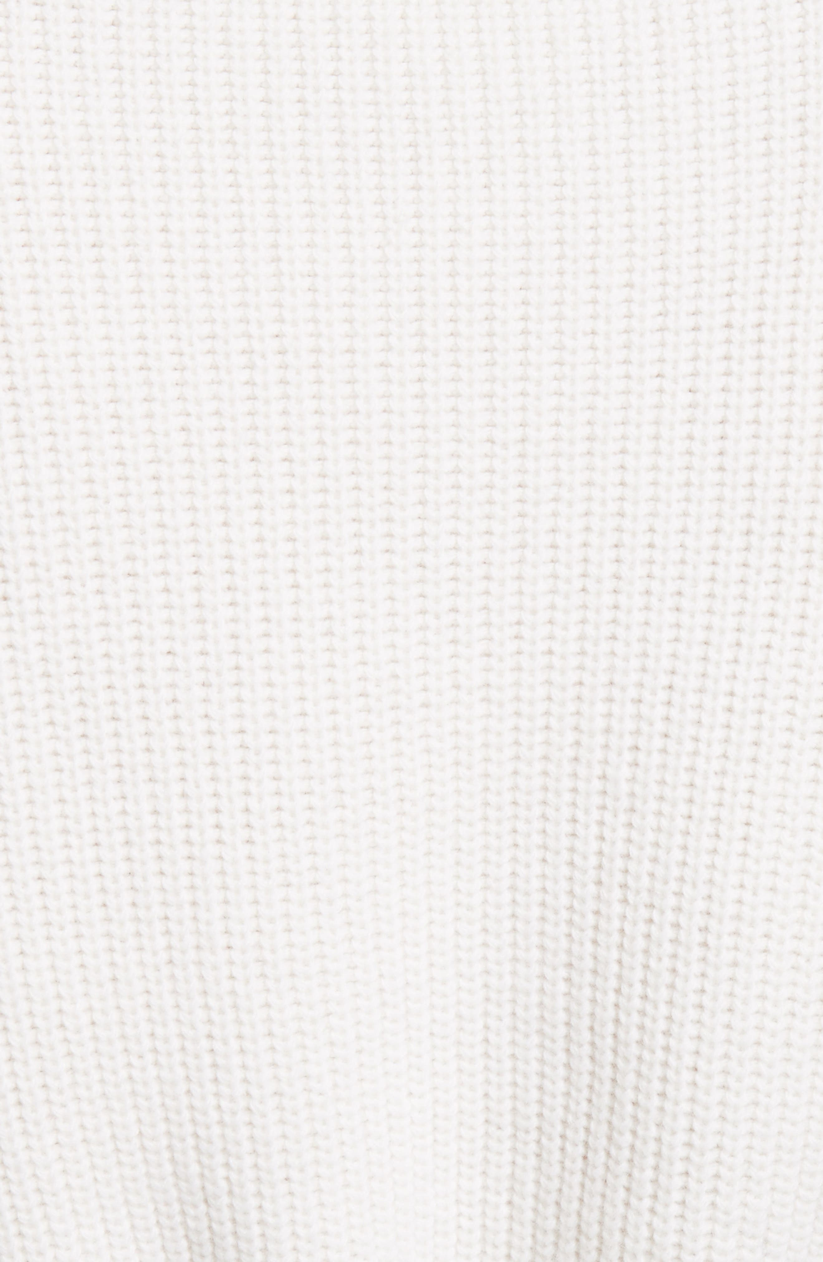 Lace Trim Merino Wool & Cashmere Sweater,                             Alternate thumbnail 3, color,                             Milk