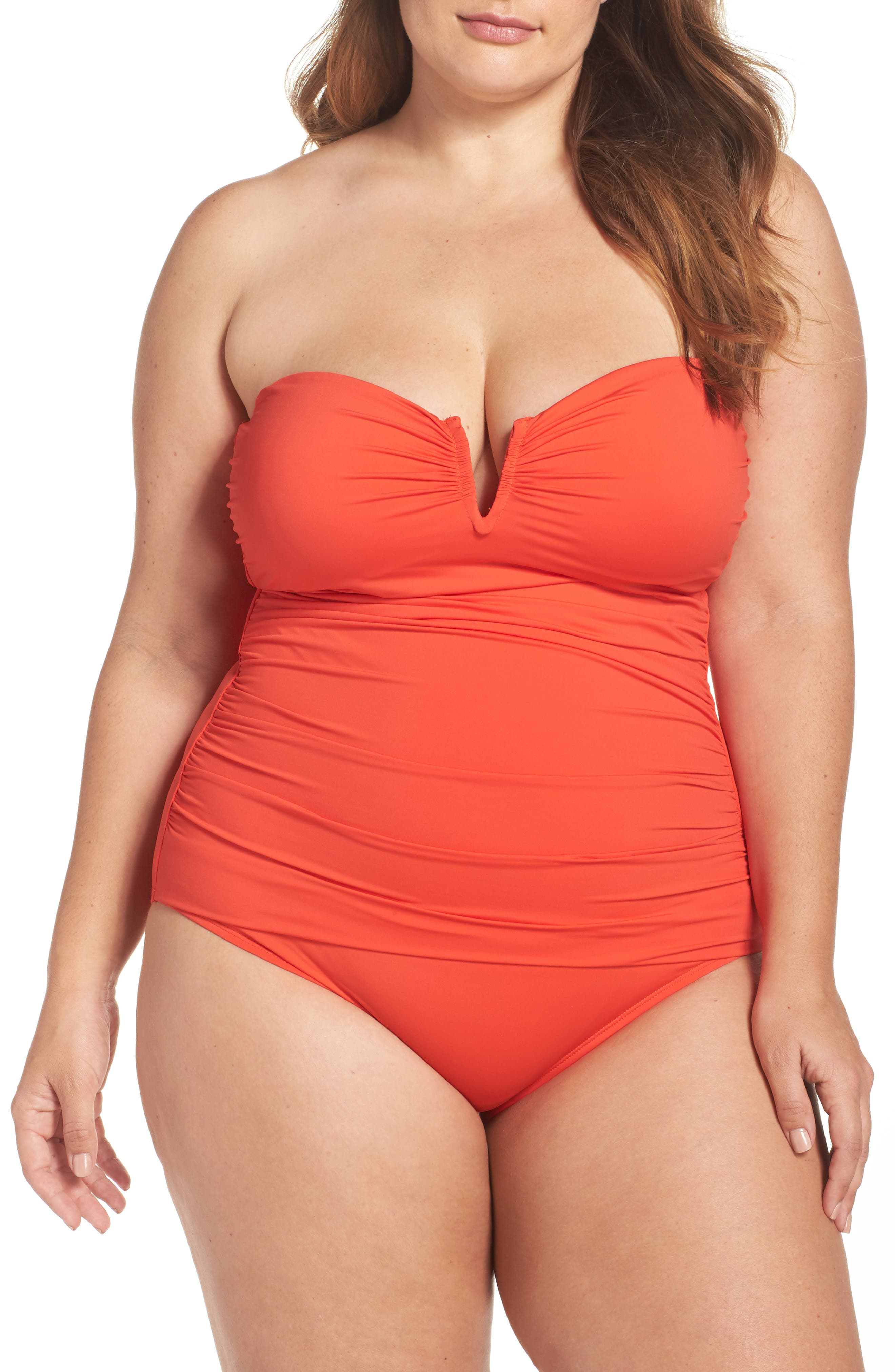 Tommy Bahama 'Pearl' Convertible One-Piece Swimsuit (Plus Size)