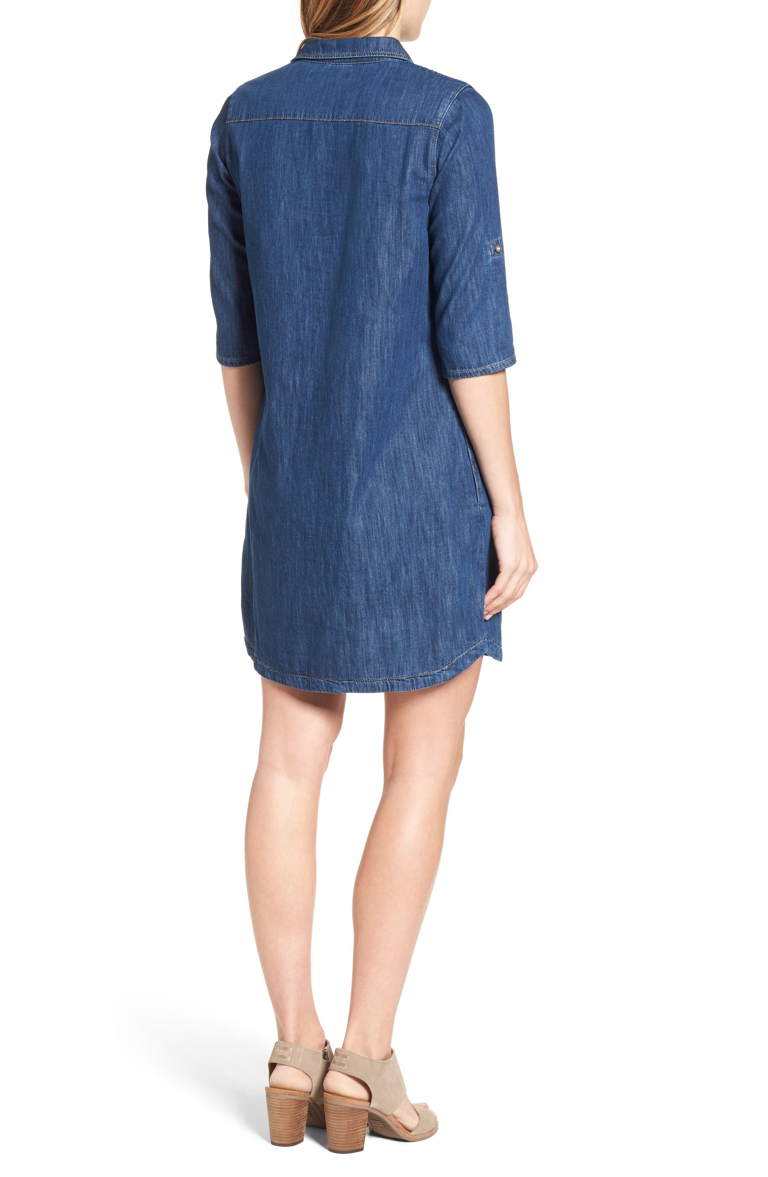 Alternate Image 2  - Mavi Jeans Bree Denim Shirtdress