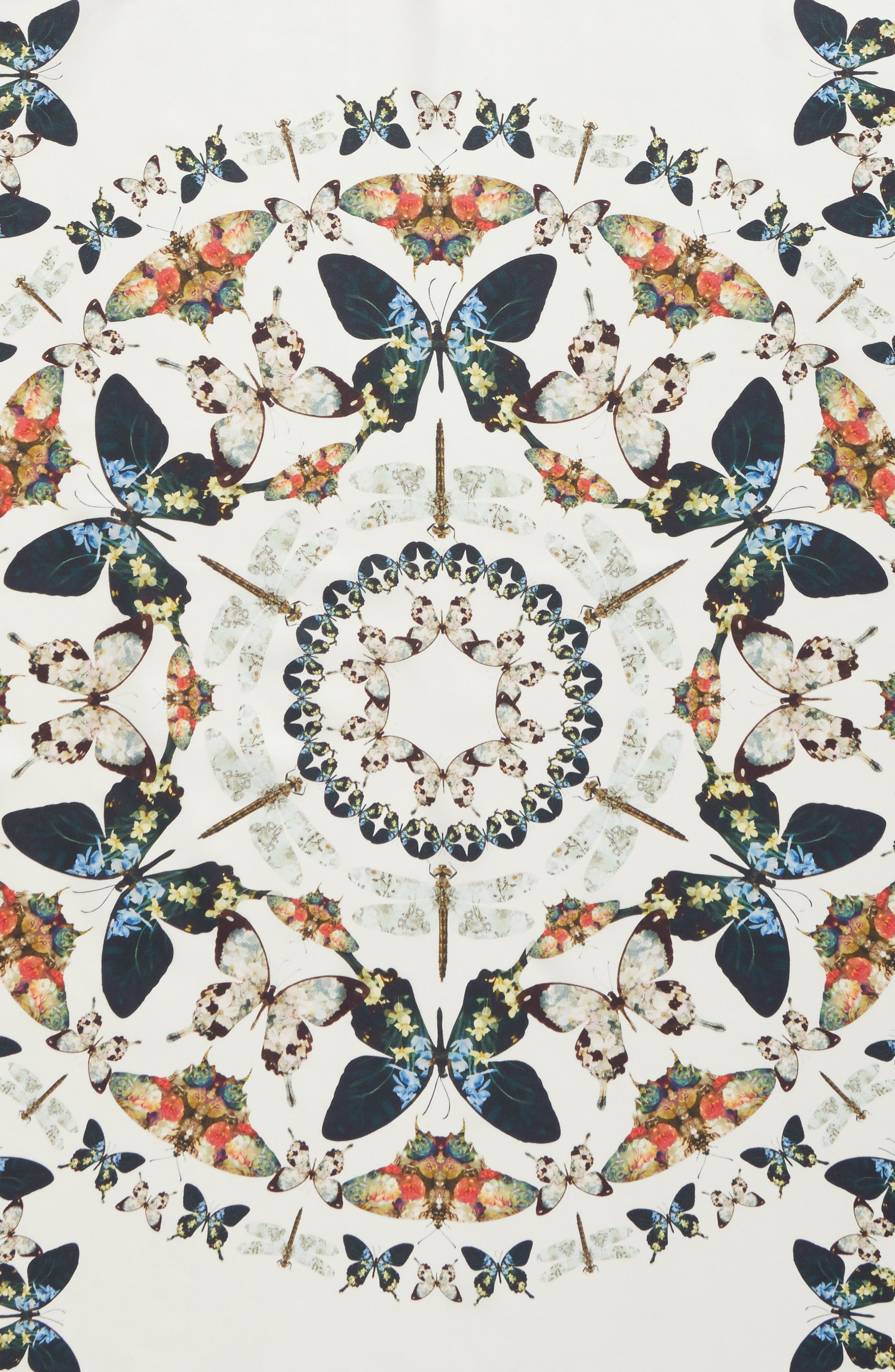 Alternate Image 4  - Ted Baker London Butterfly Kaleidoscope Square Silk Scarf