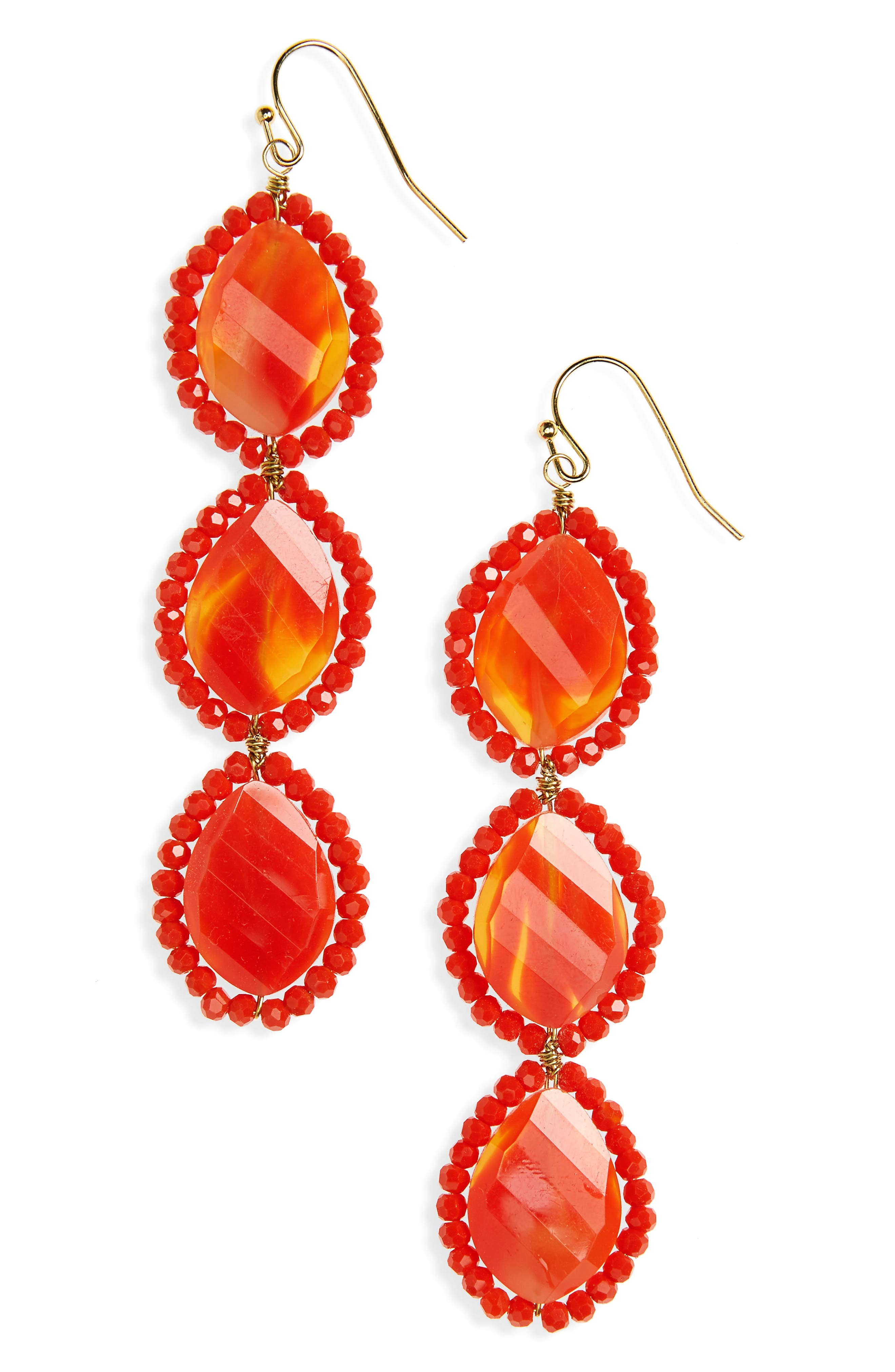 PANACEA Crystal Linear Drop Earrings