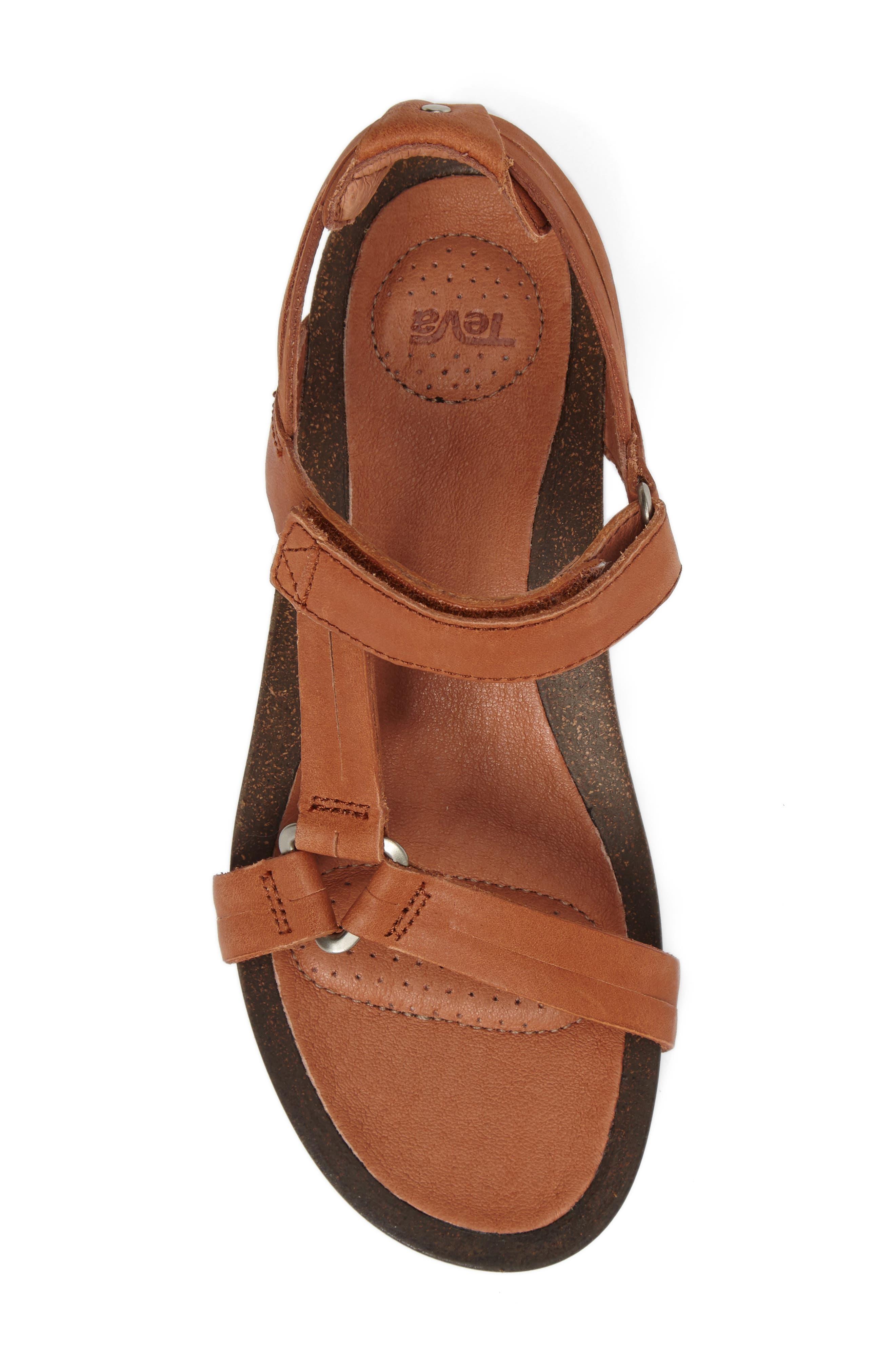 Ysidro Universal Sandal,                             Alternate thumbnail 4, color,                             Cognac Leather