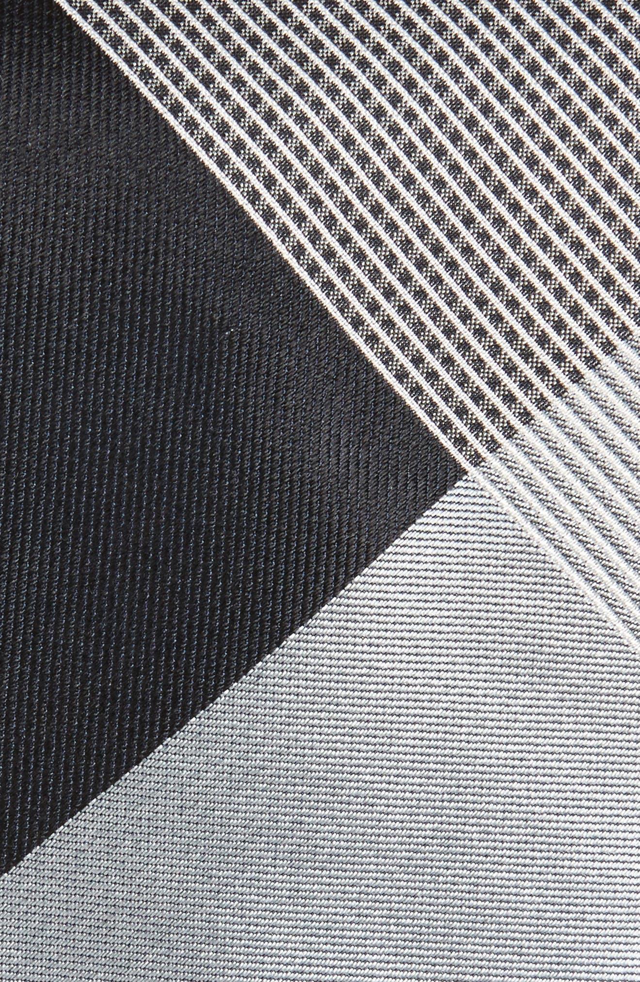 Clinton Check Silk Tie,                             Alternate thumbnail 2, color,                             Steel Grey
