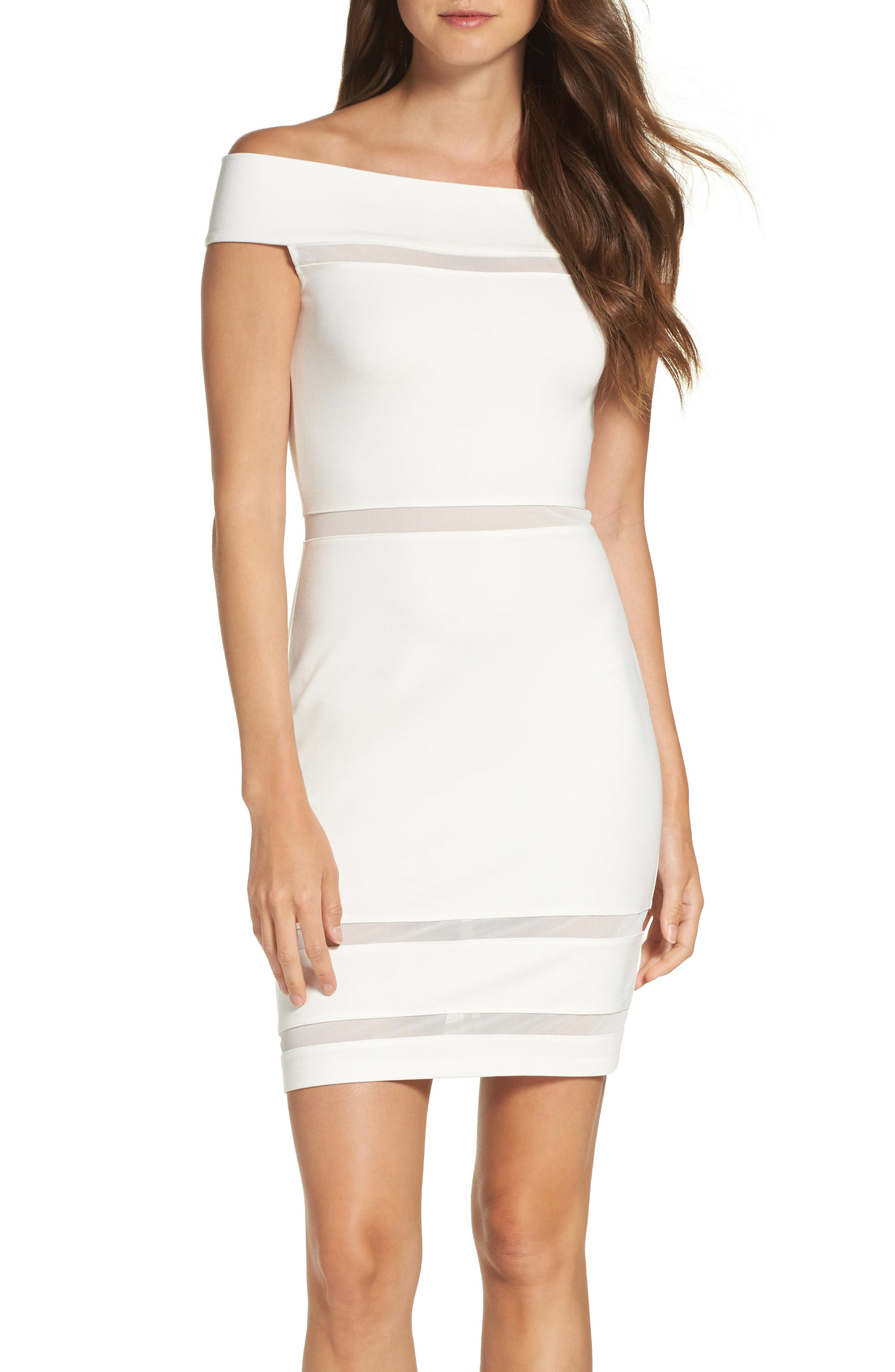 French Connection Lula Off the Shoulder Body-Con Dress