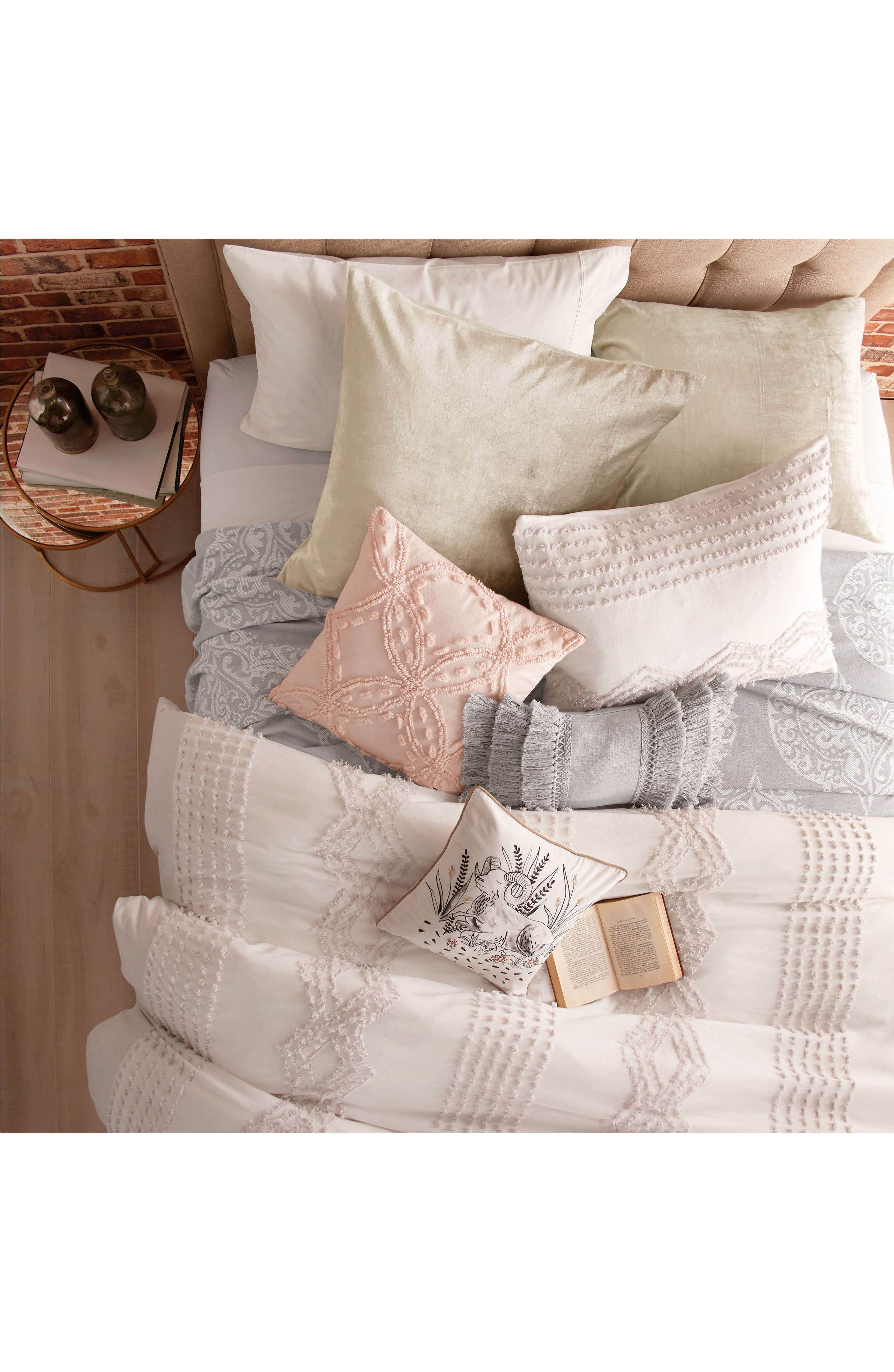Alternate Image 2  - Peri Home Cut Geo Chenille Comforter & Sham Set