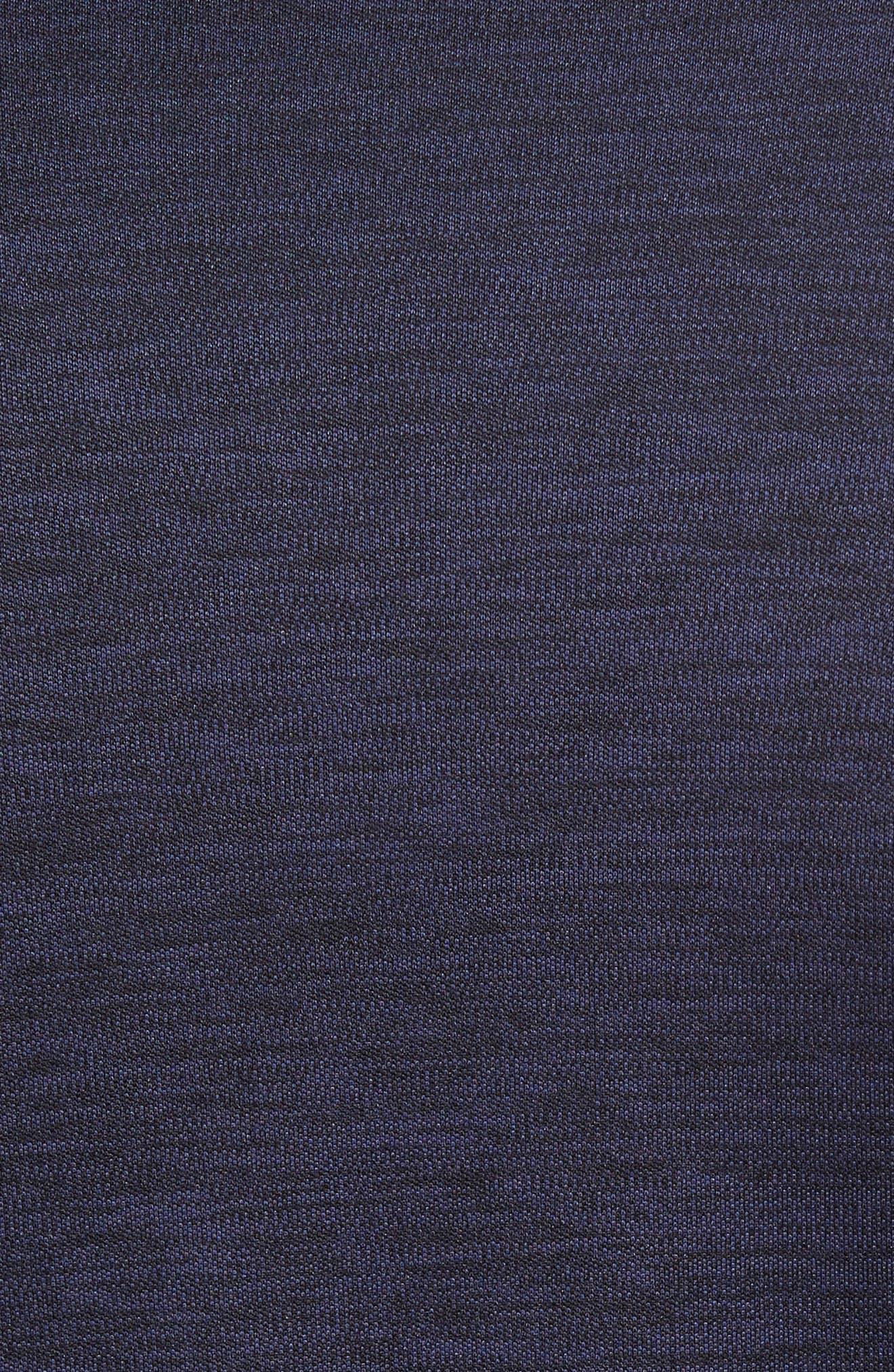 Triplite Long Sleeve T-Shirt,                             Alternate thumbnail 5, color,                             Navy Malachite Melange