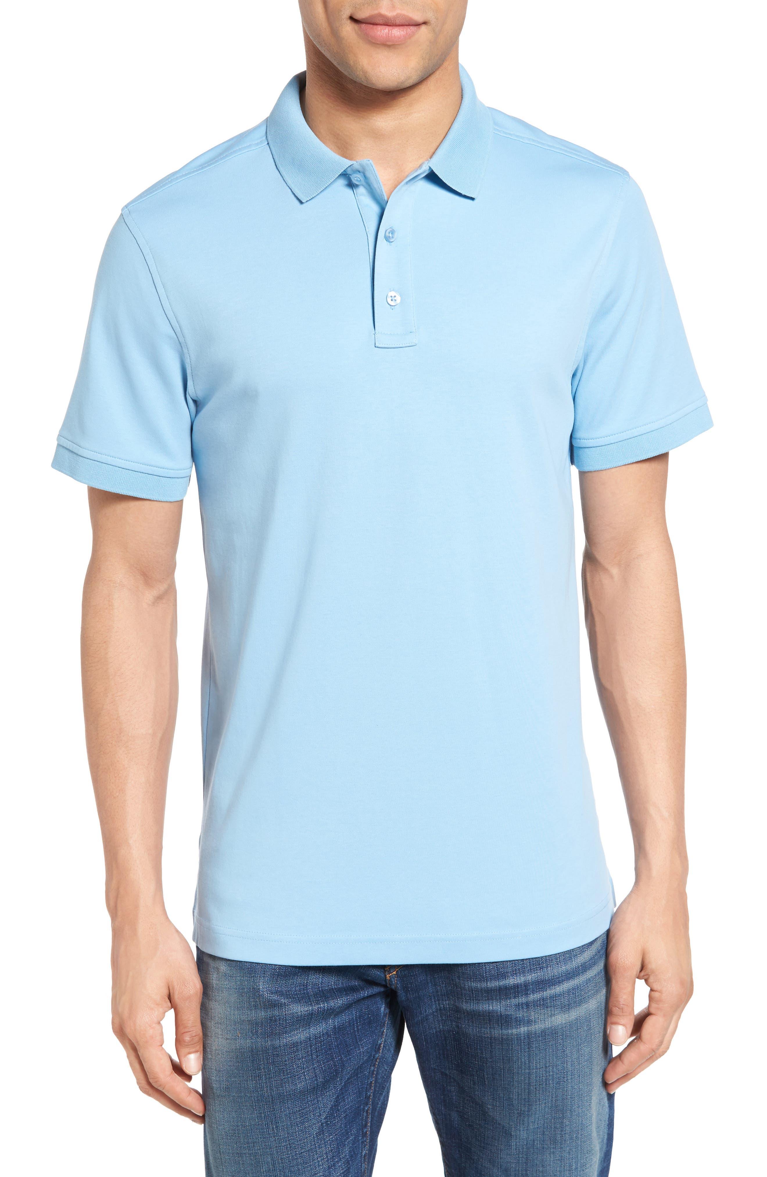 Alternate Image 1 Selected - Nordstrom Men's Shop Slim Fit Interlock Knit Polo