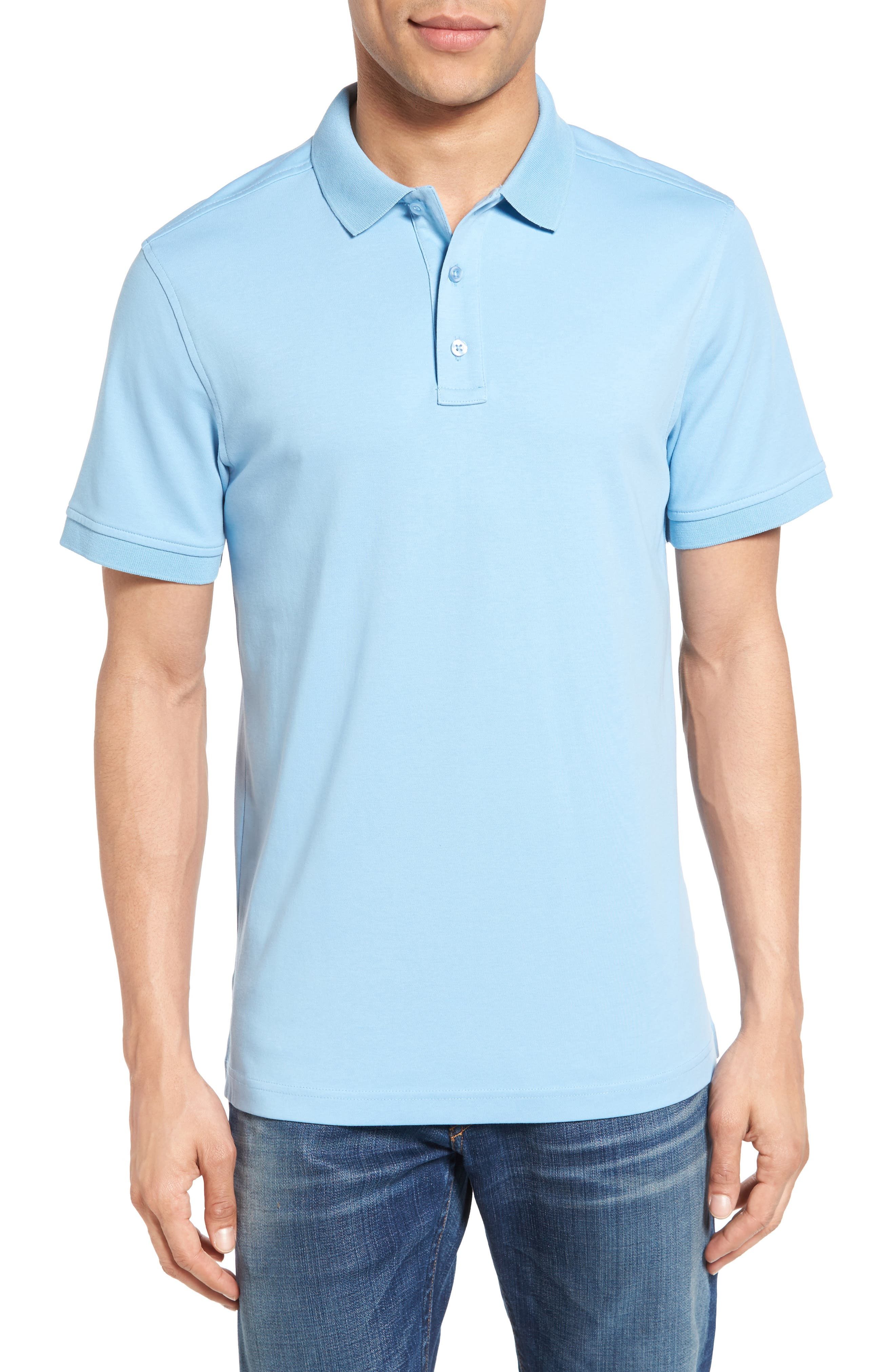 Main Image - Nordstrom Men's Shop Slim Fit Interlock Knit Polo