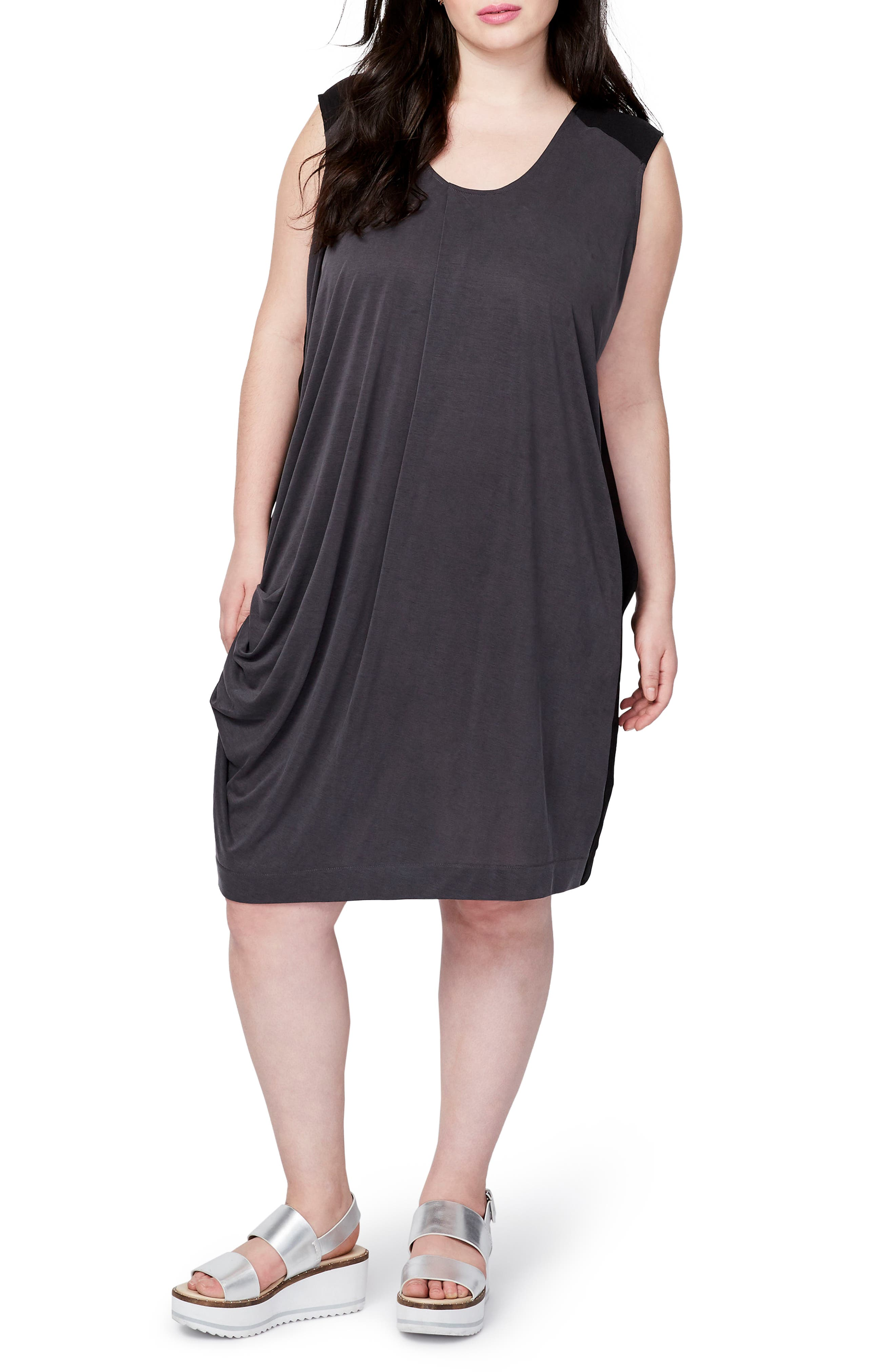 RACHEL Rachel Roy Draped Colorblock Dress (Plus Size)