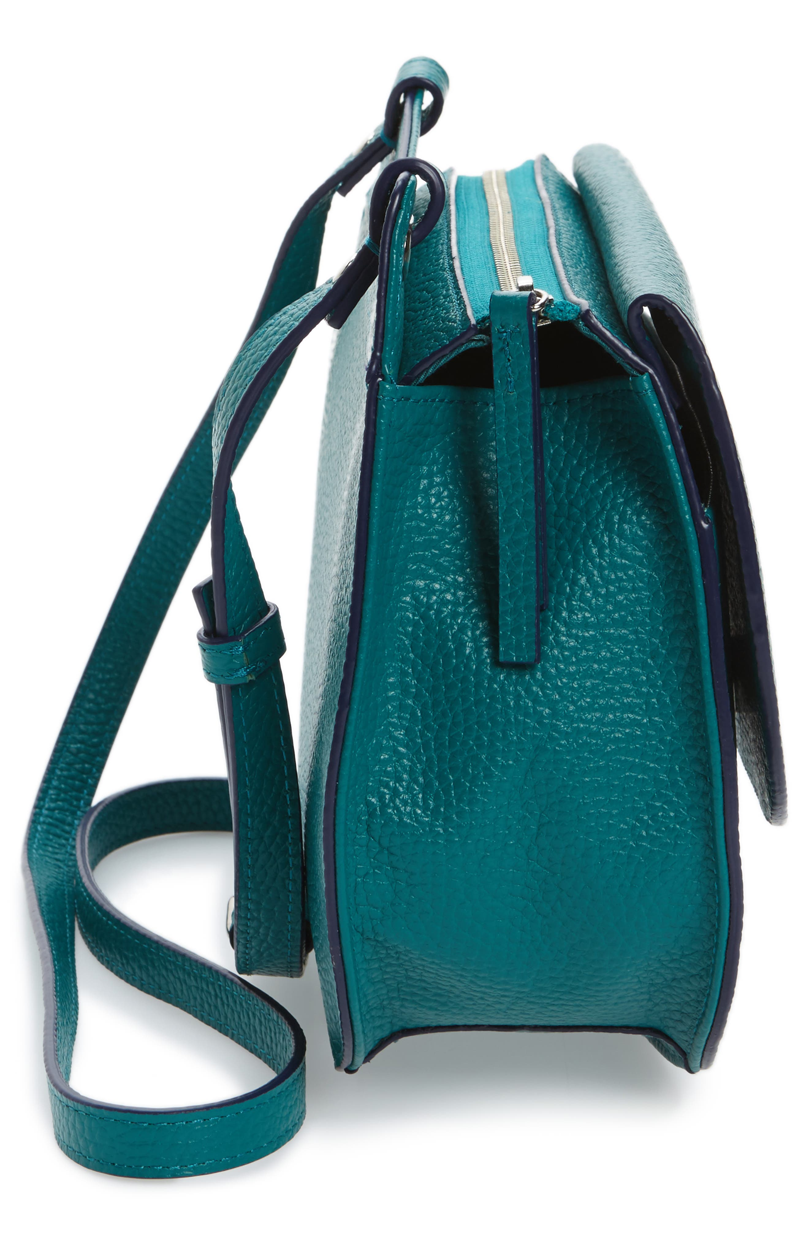 Alternate Image 4  - Halogen® Leather Saddle Bag