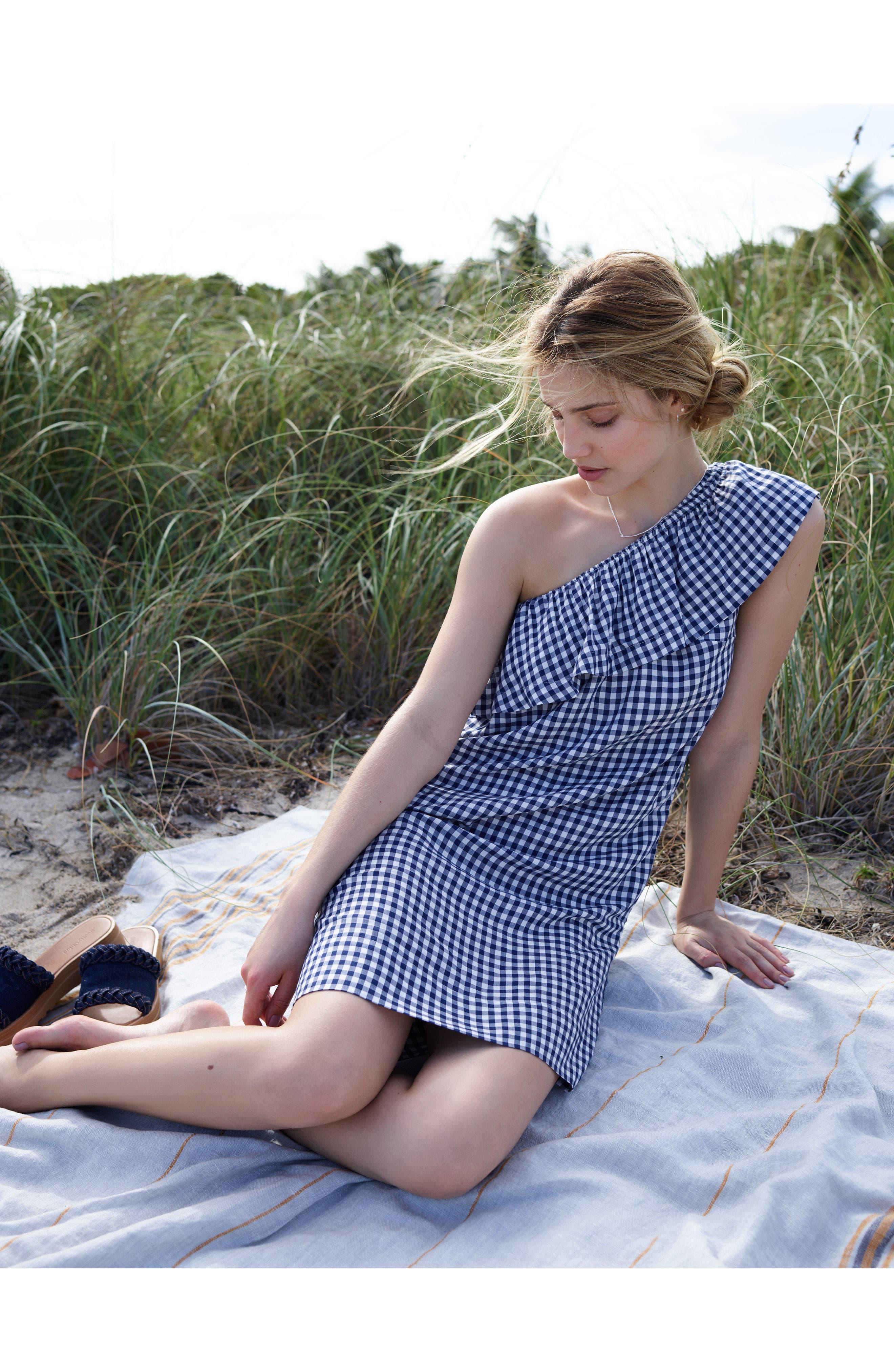 Alternate Image 2  - Velvet by Graham & Spencer One-Shoulder Check Dress
