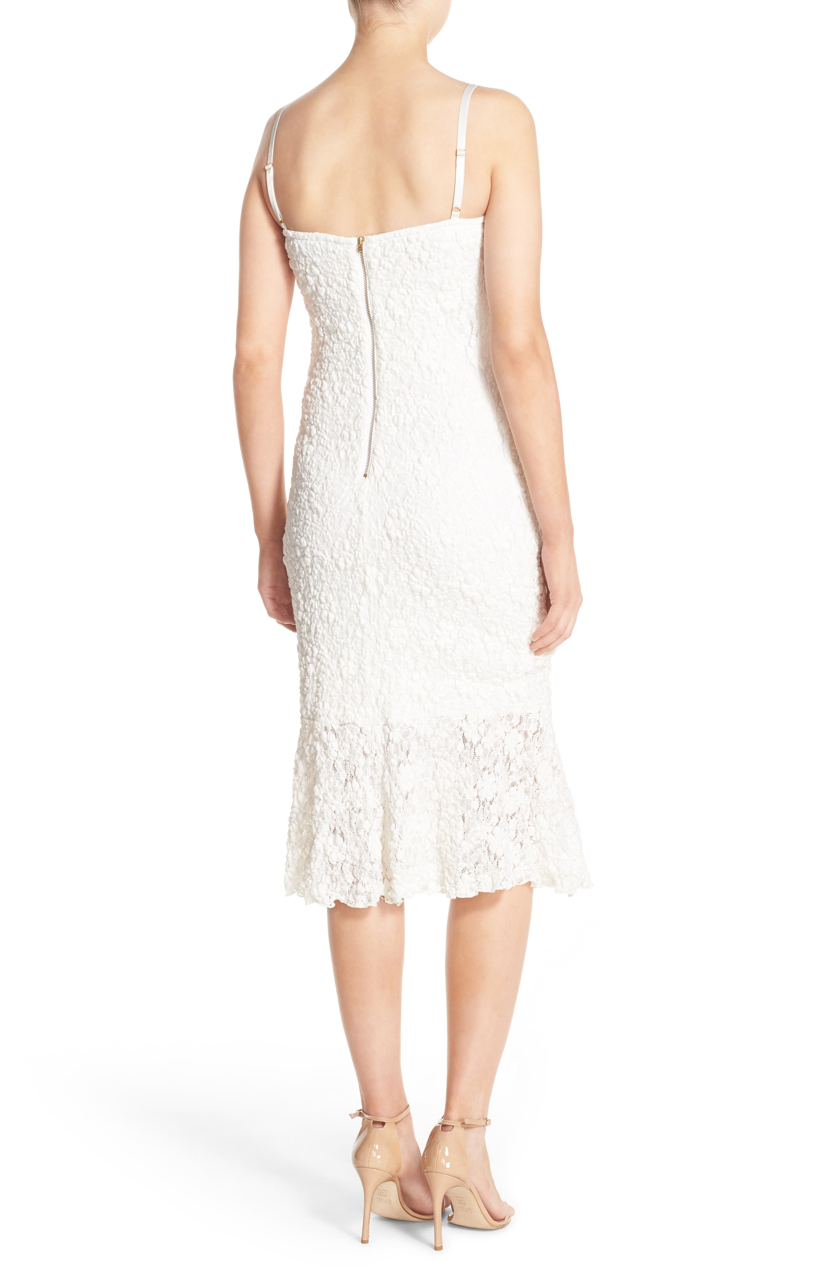 Alternate Image 2  - French Connection Lace Midi Dress