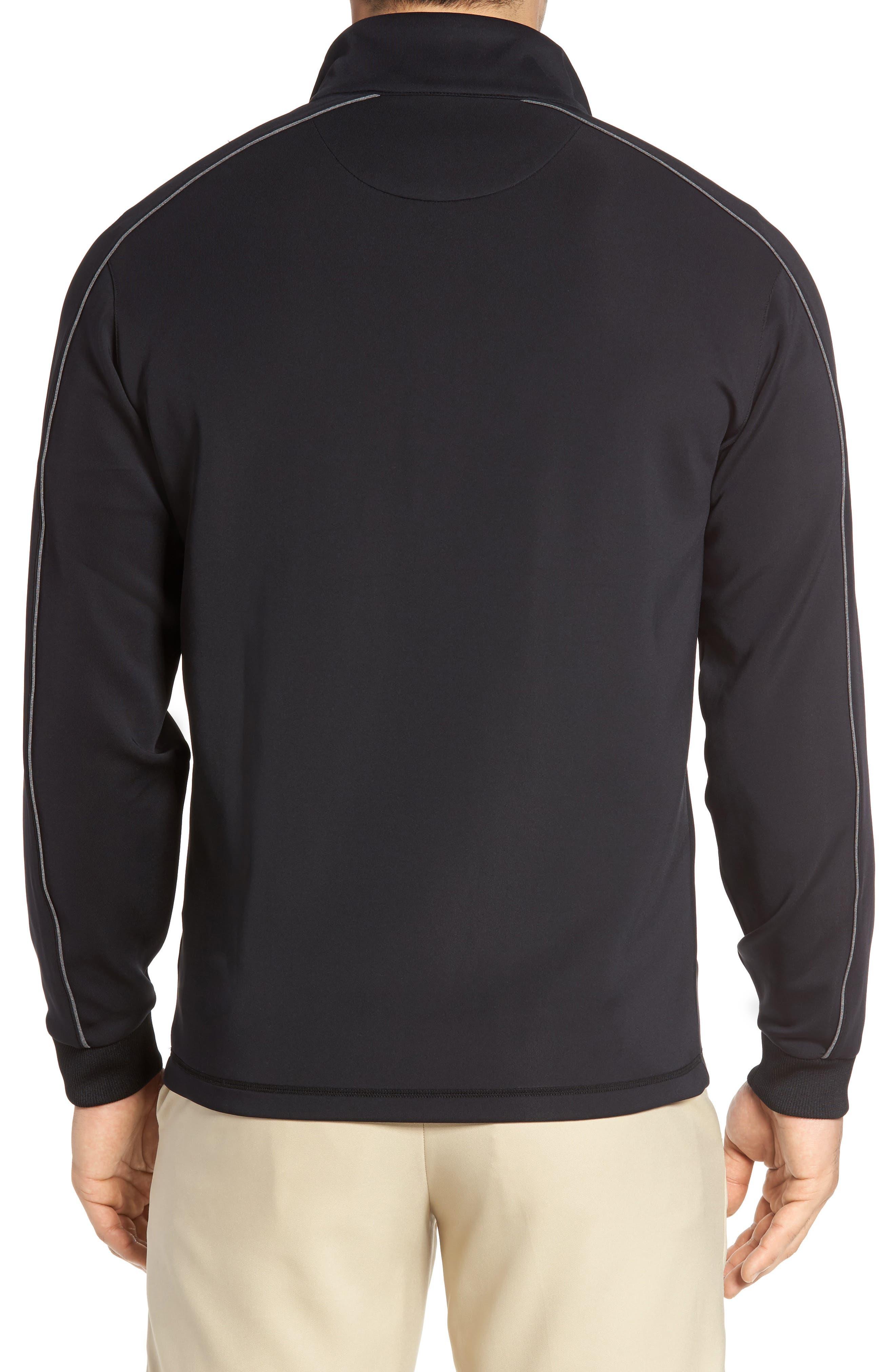 Tech Quarter Zip Pullover,                             Alternate thumbnail 2, color,                             Black