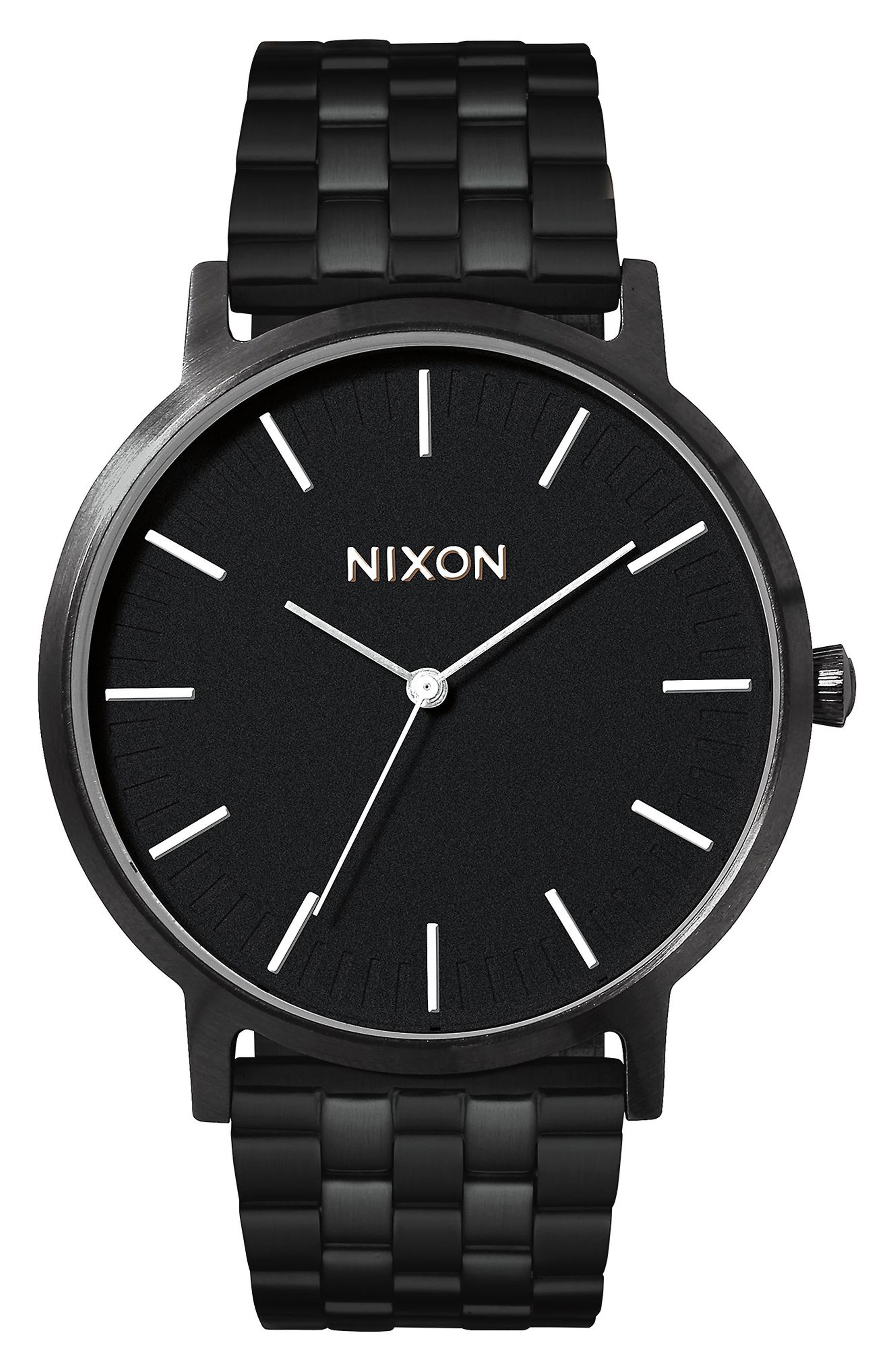 Porter Bracelet Watch, 40mm,                         Main,                         color, Black