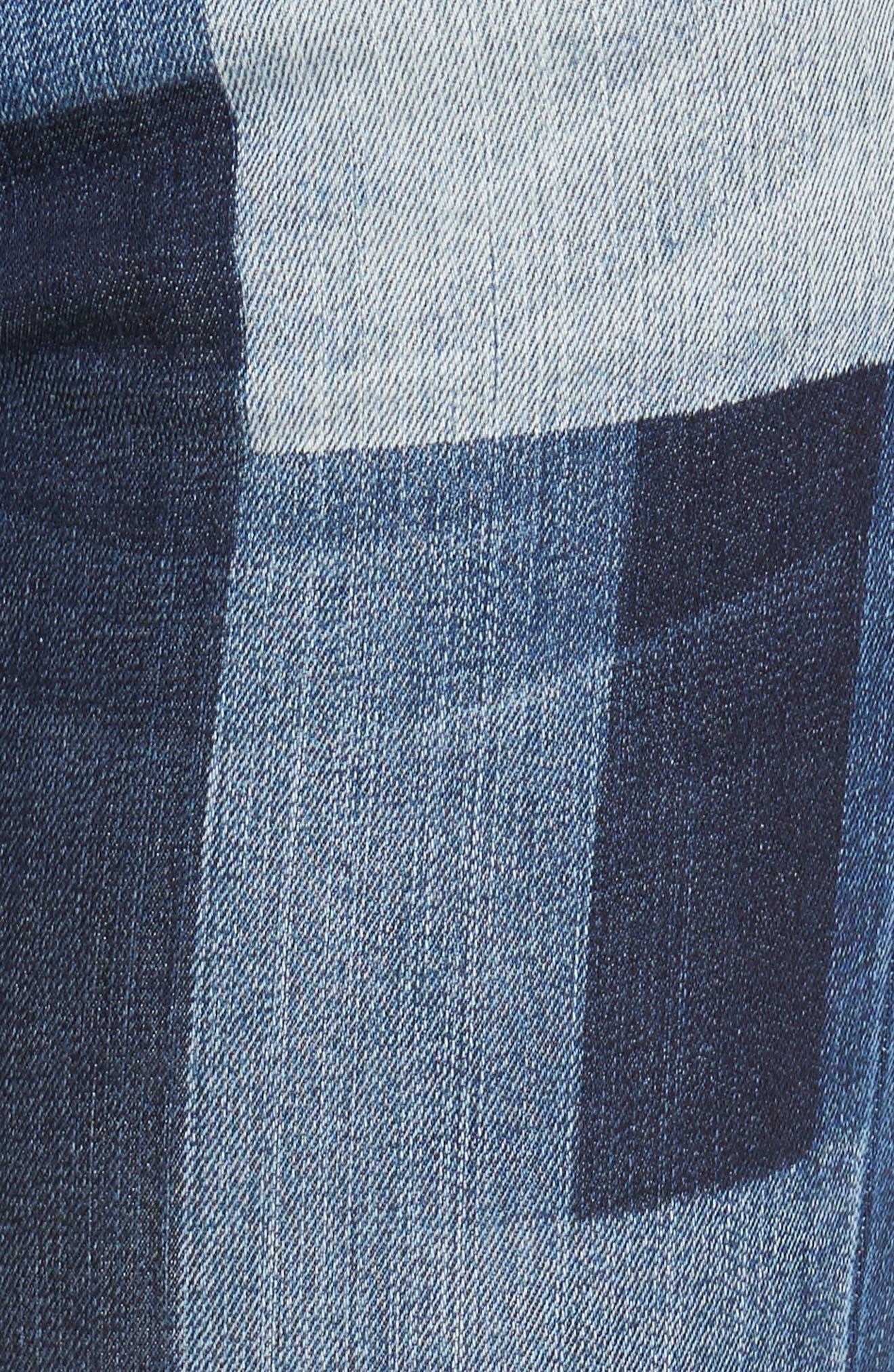 Patchwork Fade Skinny Jeans,                             Alternate thumbnail 5, color,                             Coequal / Dark Stone