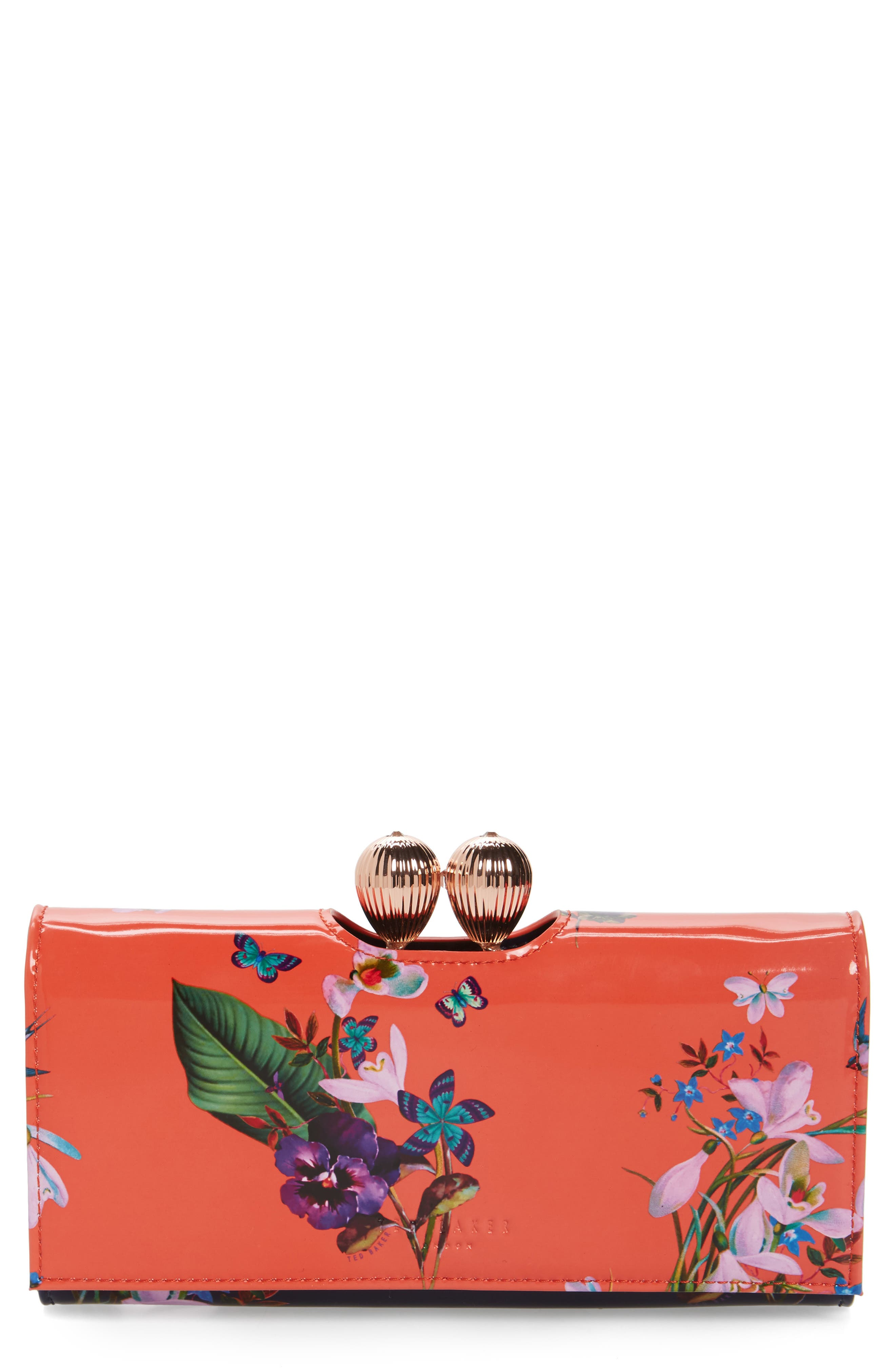 Alternate Image 1 Selected - Ted Baker London Odd Bobble Leather Matinée Wallet