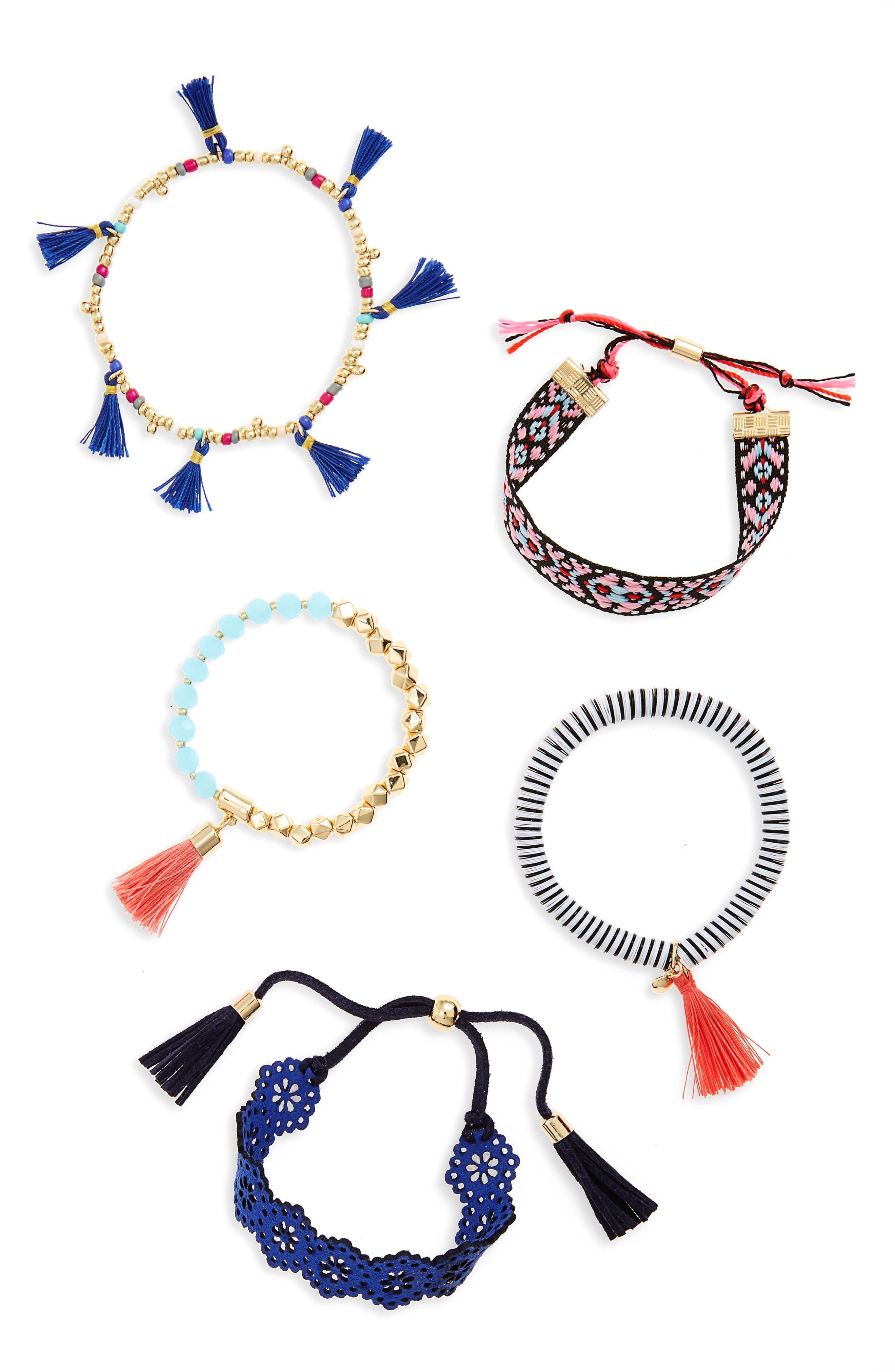 Alternate Image 3  - BaubleBar Mahala Set of 5 Bracelets