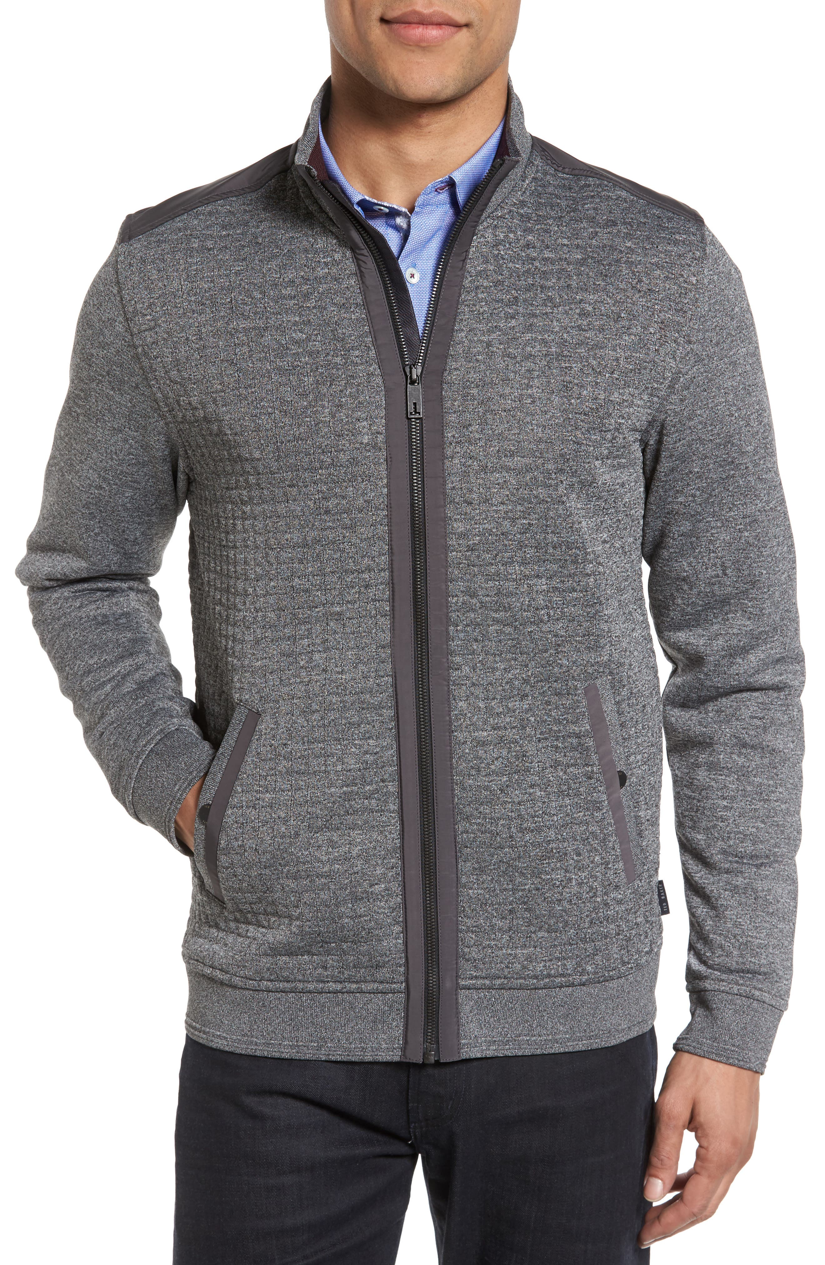 Main Image - Ted Baker London Whooty Full Zip Fleece Jacket