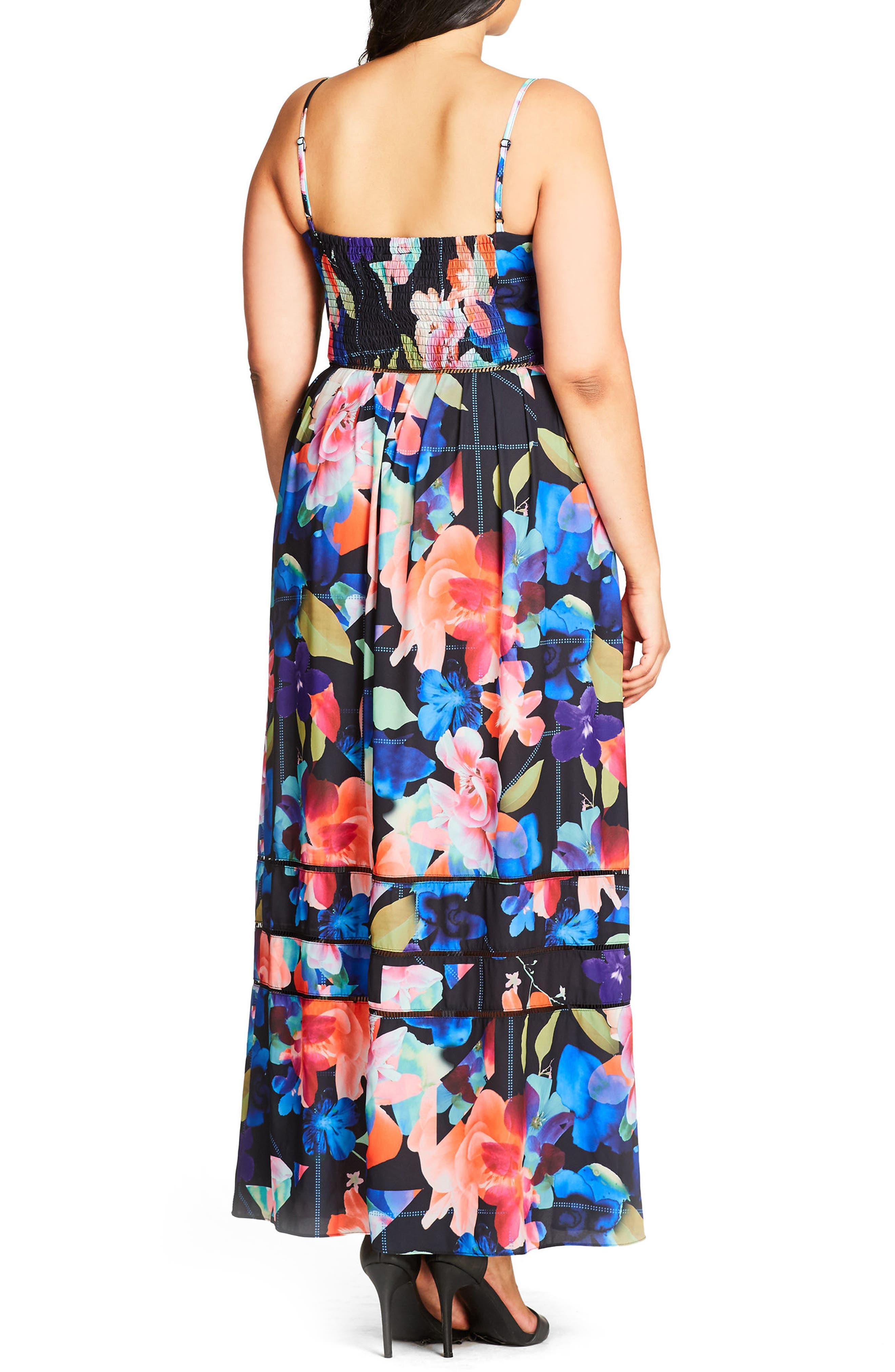 Alternate Image 2  - City Chic Maxi Dress (Plus Size)
