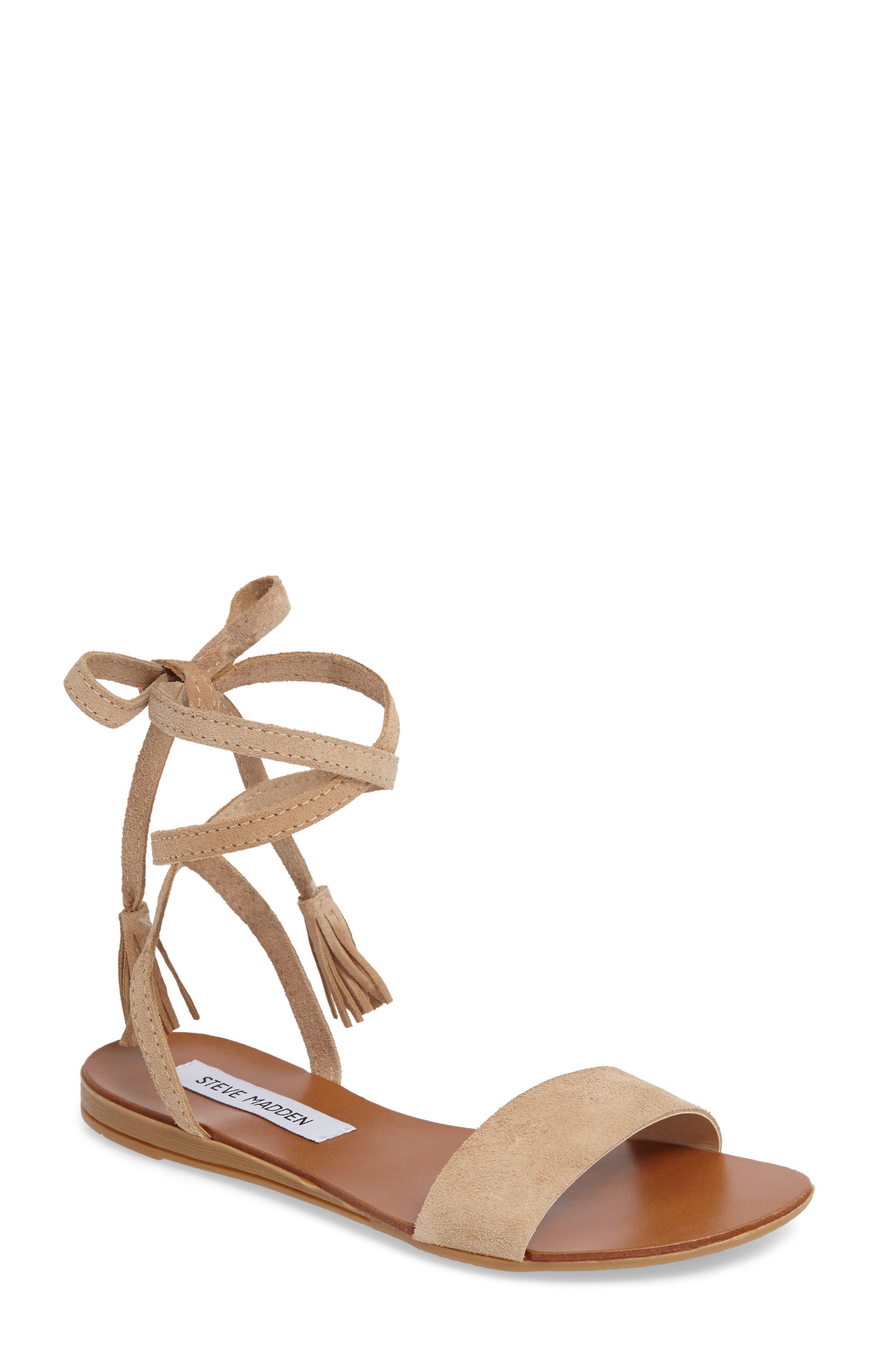 STEVE MADDEN Kapri Wraparound Lace Sandal