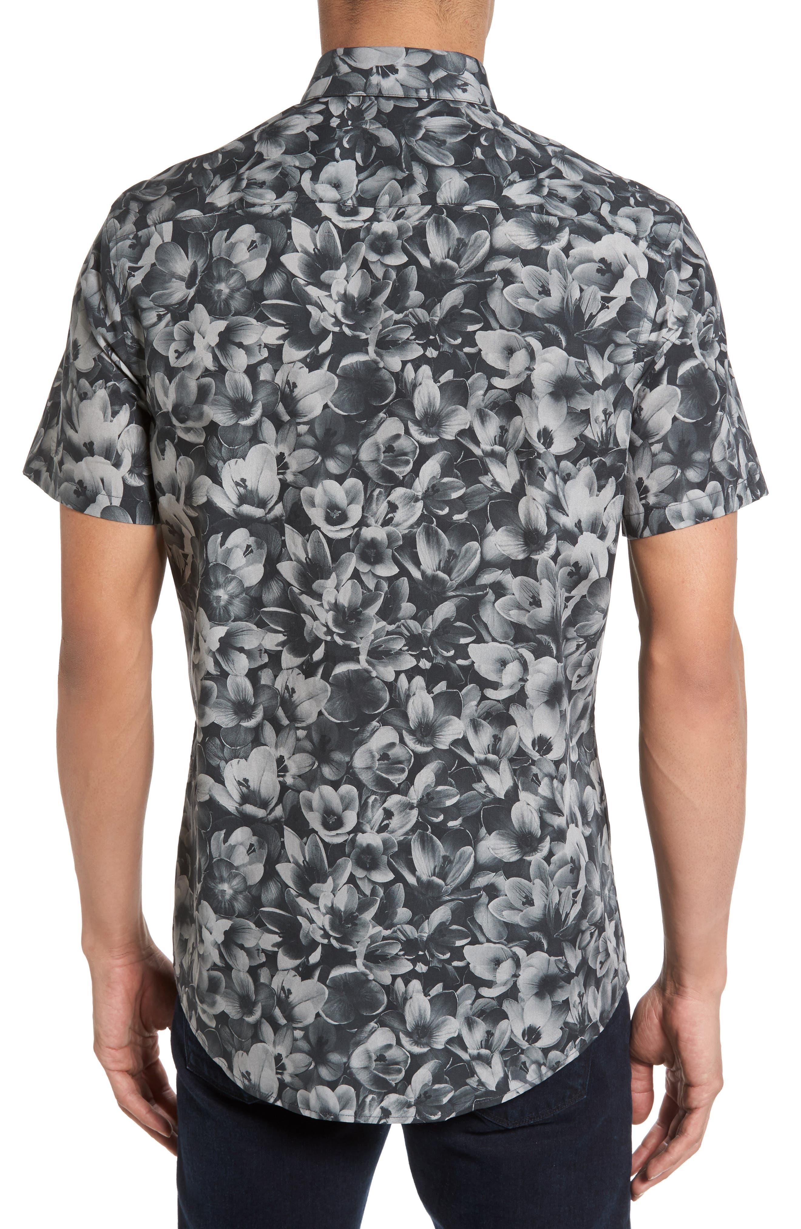 Alternate Image 2  - Calibrate Trim Fit Non-Iron Print Sport Shirt