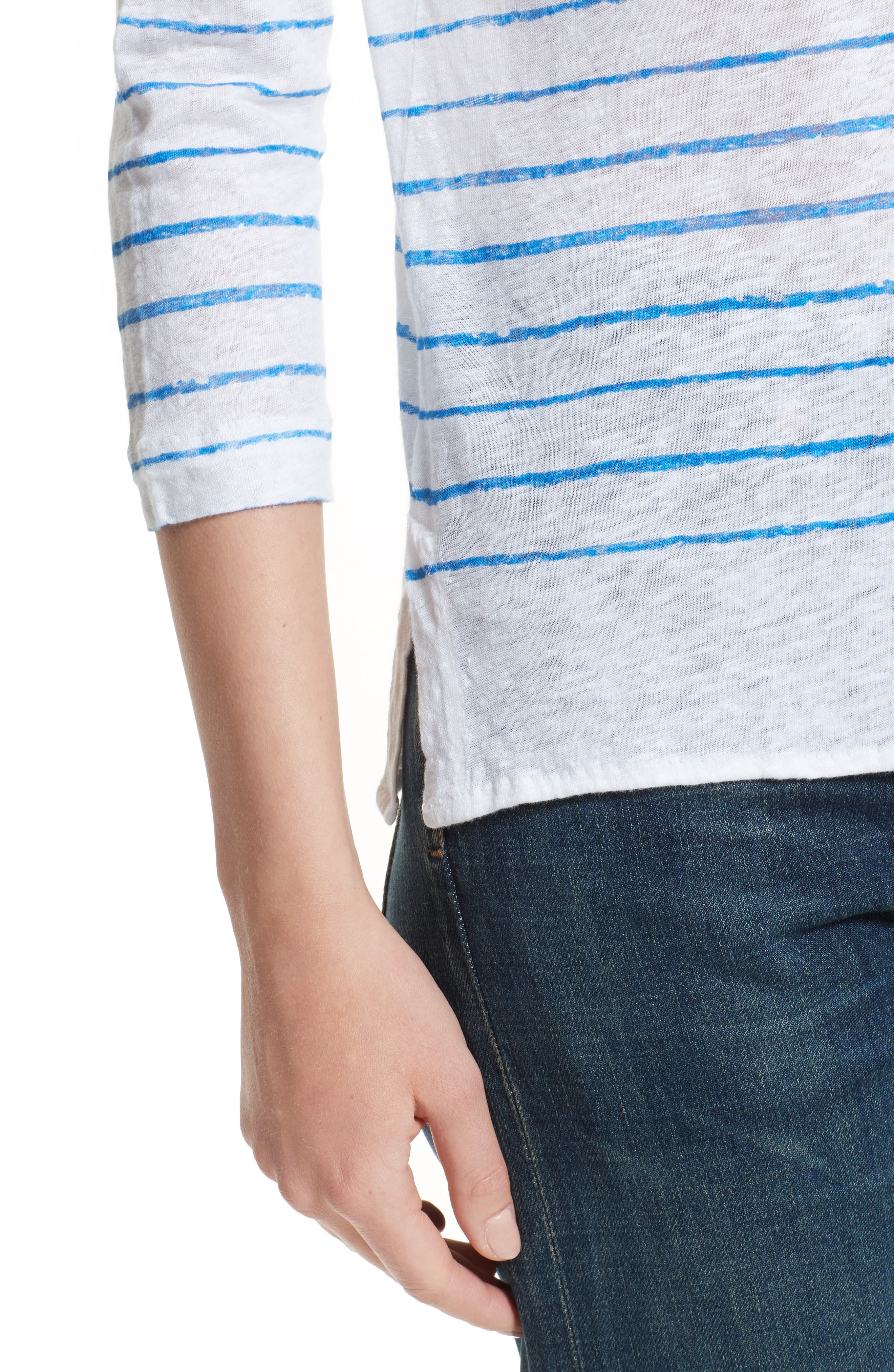 Alternate Image 4  - Majestic Filatures Vintage Stripe Linen Tee