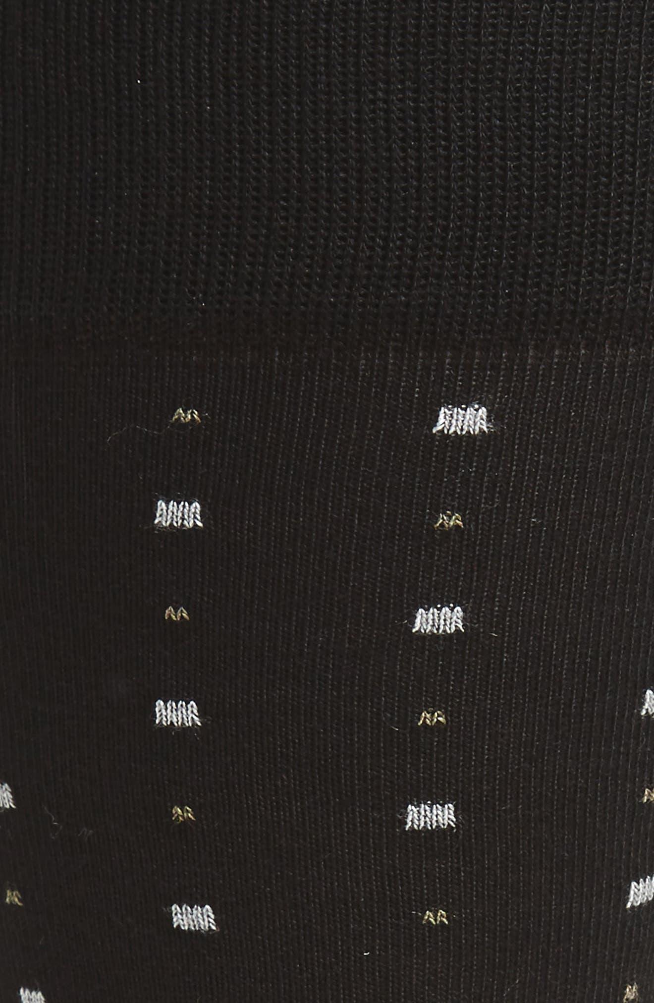 Box Dot Crew Socks,                             Alternate thumbnail 2, color,                             Black