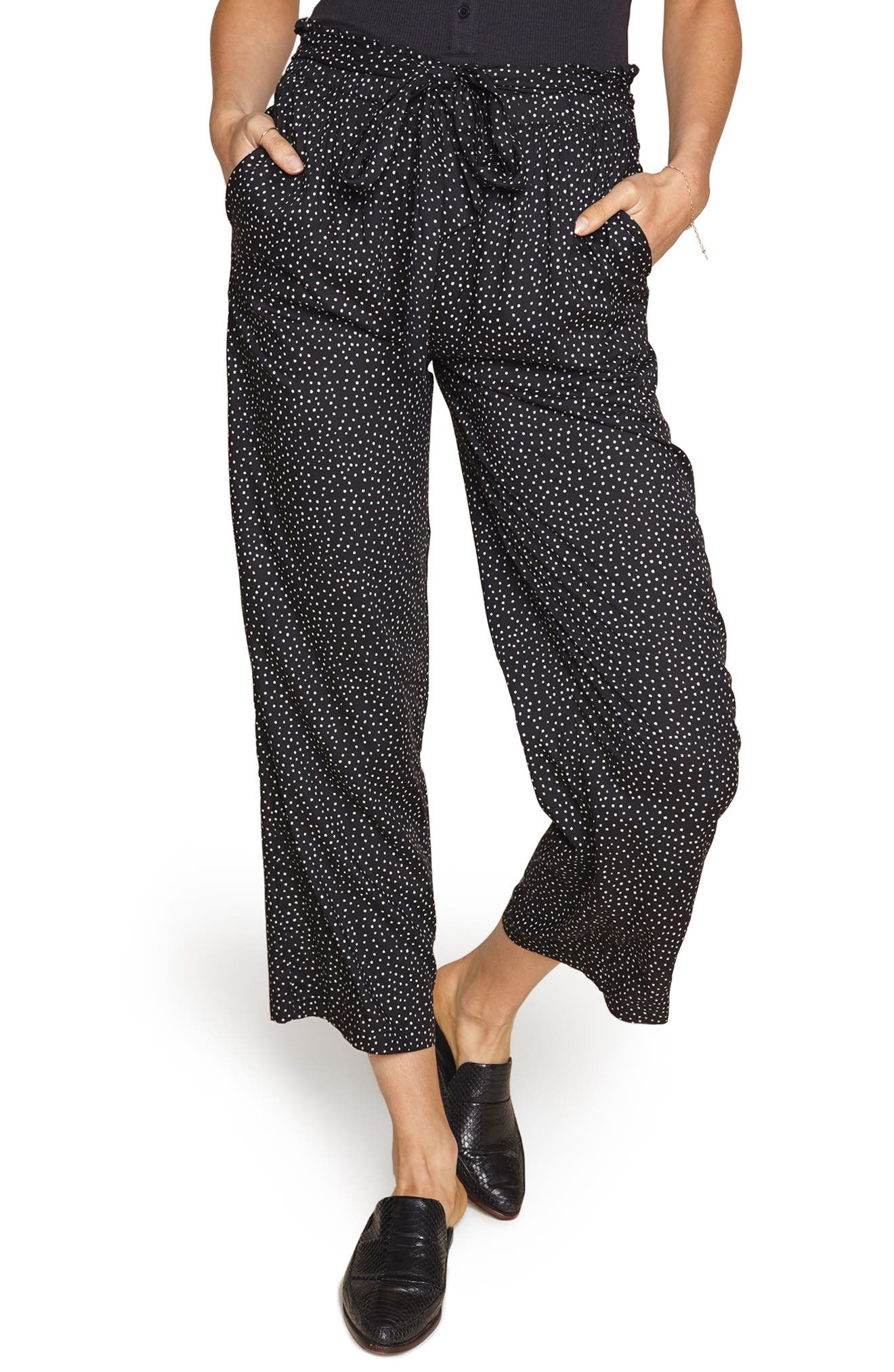 Amuse Society Iver Crop Wide Leg Pants