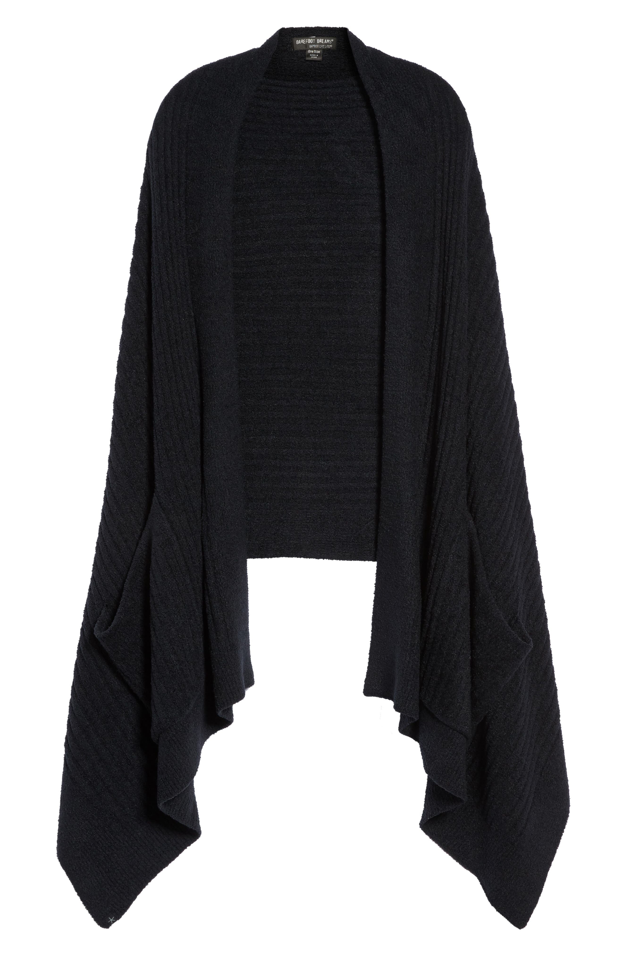 Cozychic Lite<sup>®</sup> Travel Shawl,                             Alternate thumbnail 4, color,                             Midnight