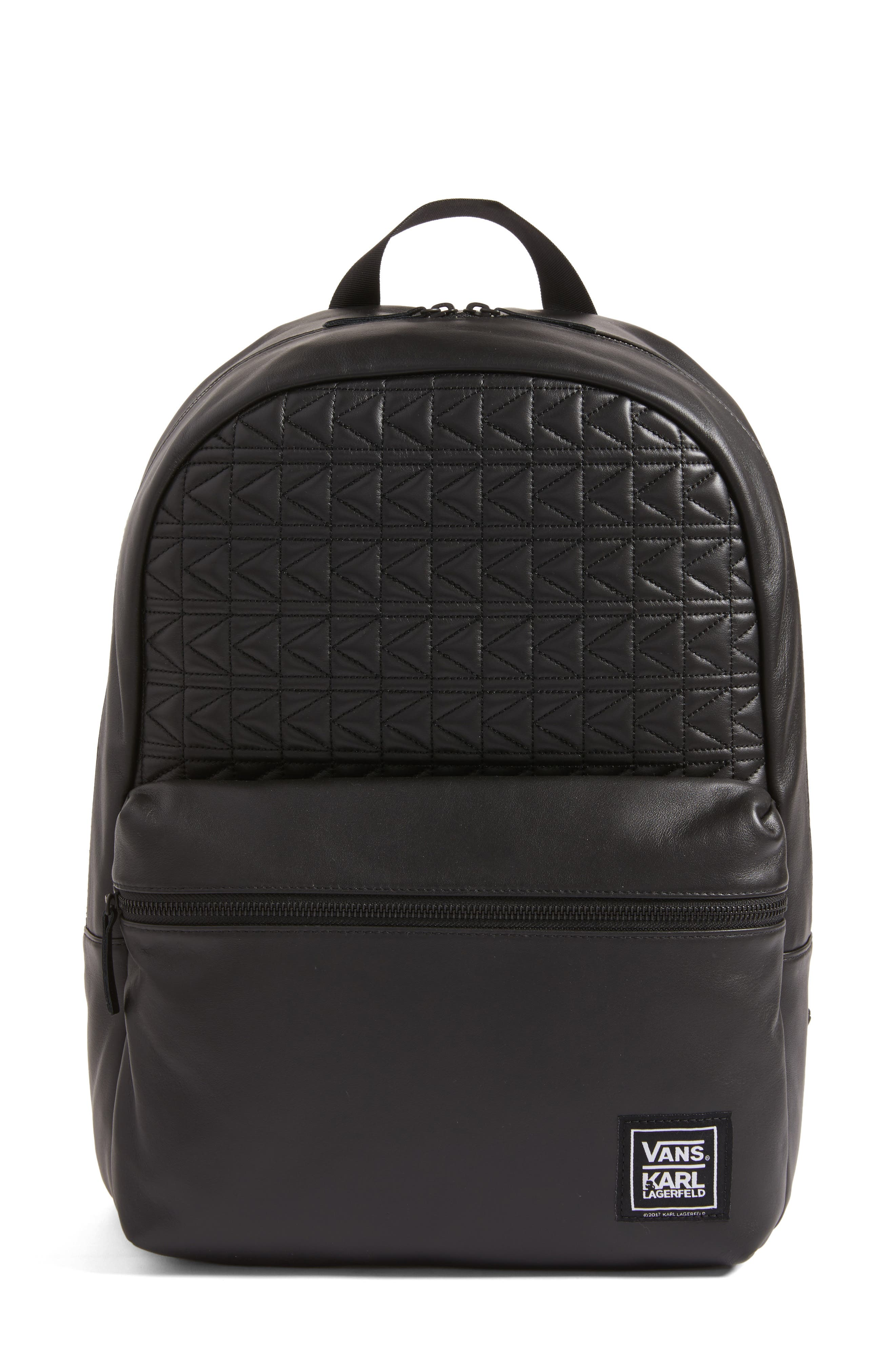 Alternate Image 1 Selected - Vans x KARL LAGERFELD Quilted Leather Backpack