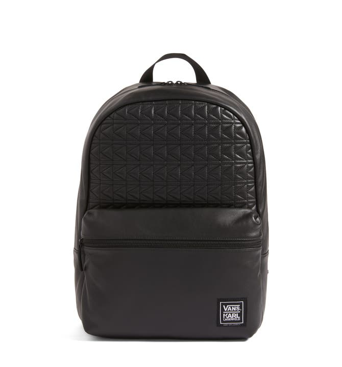 Vans x KARL LAGERFELD Quilted Leather Backpack | Nordstrom