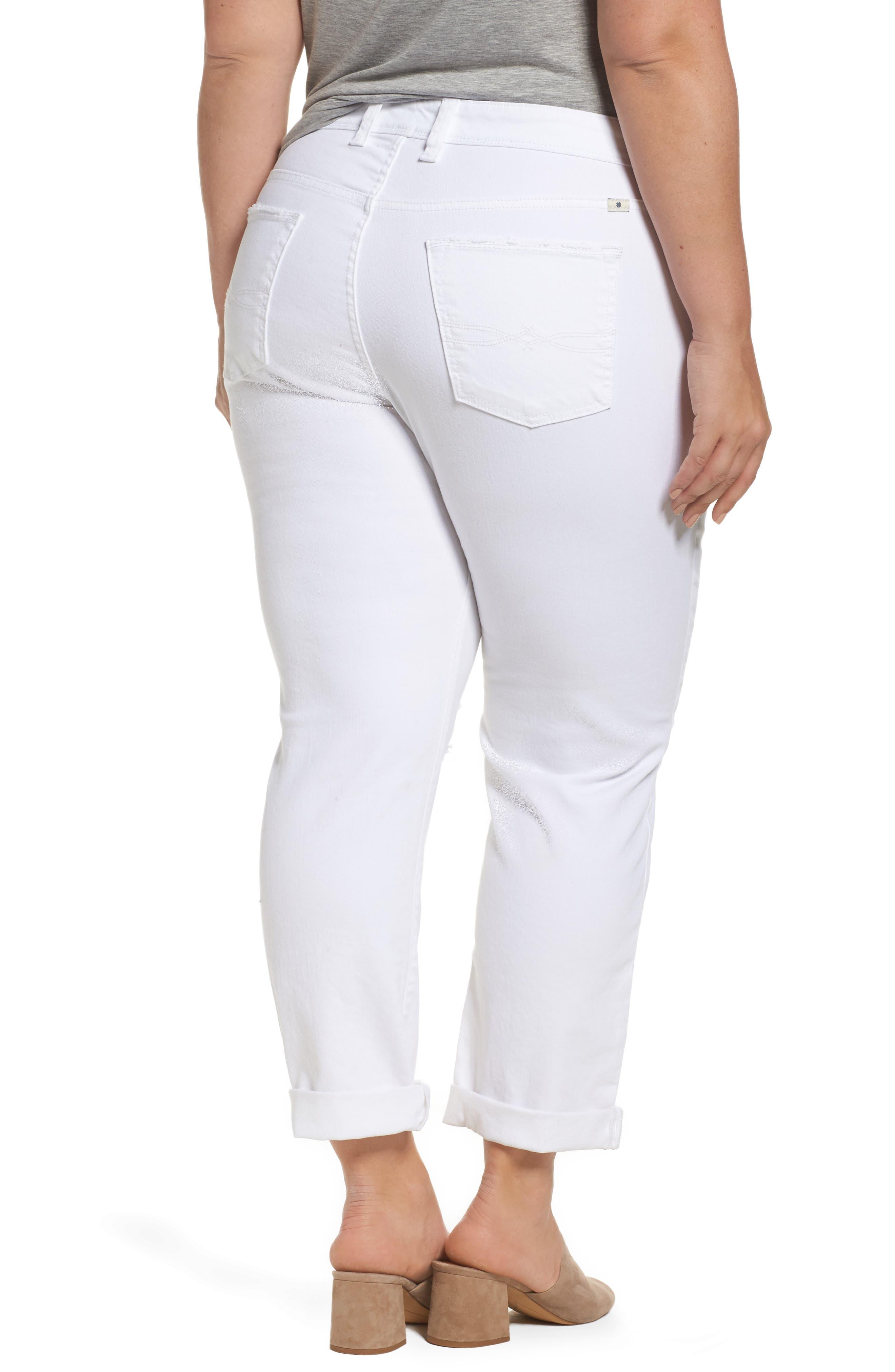 Alternate Image 2  - Lucky Brand Reese Ripped Boyfriend Jeans (Rockville) (Plus Size)