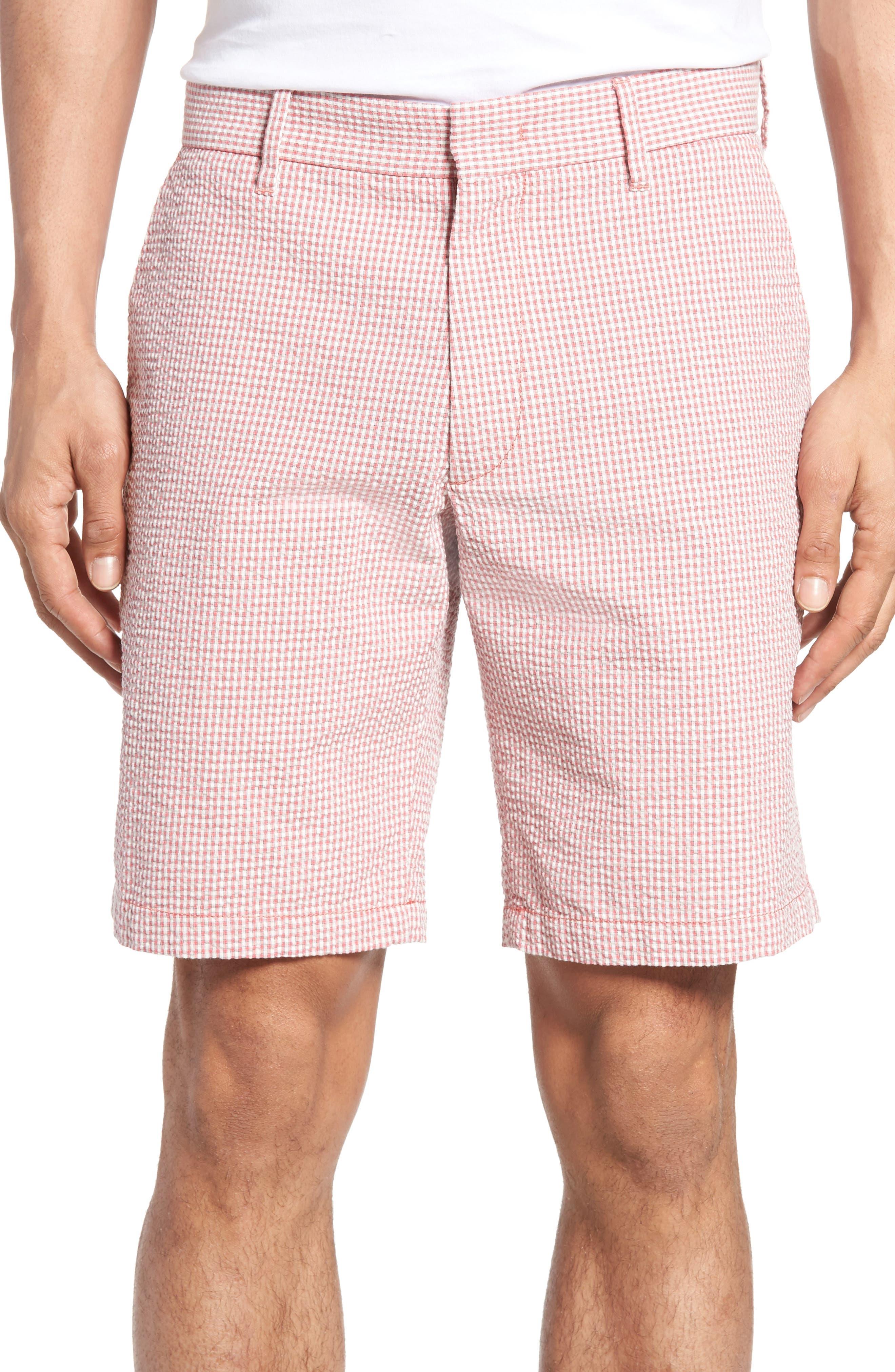 Zachary Prell Fringe Check Seersucker Shorts