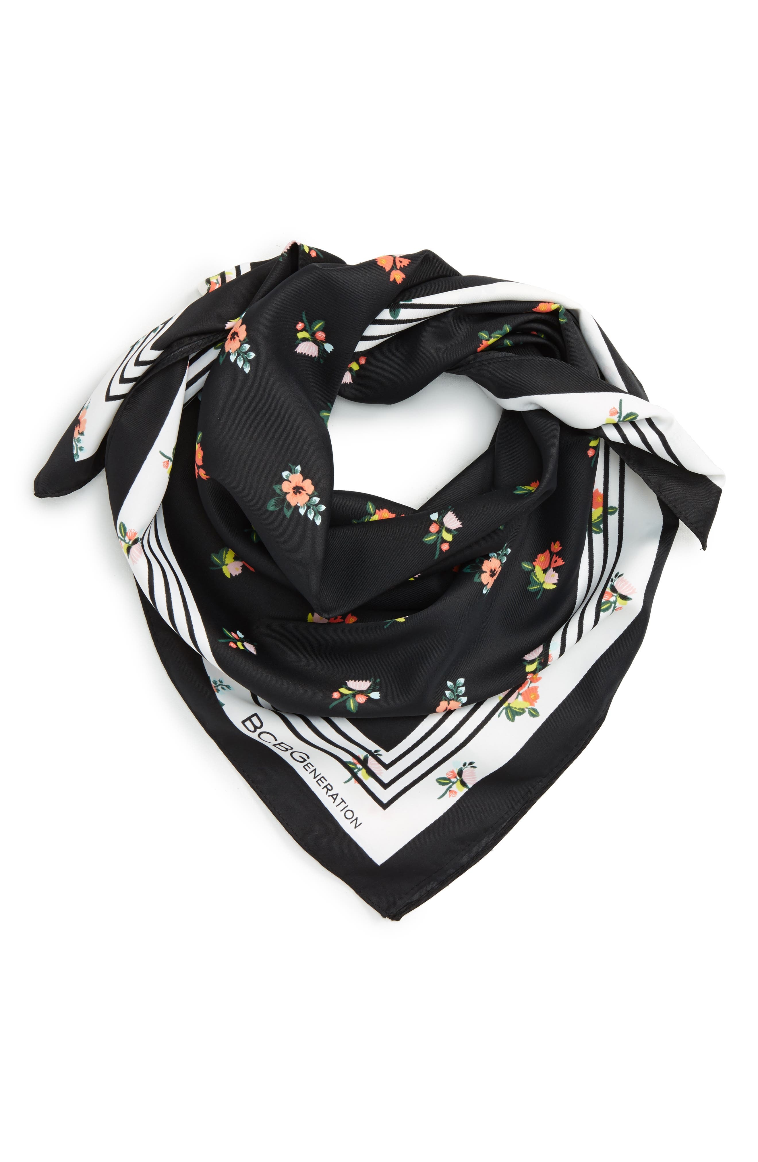 Alternate Image 1 Selected - BCBGeneration Falling Floral Print Bandana
